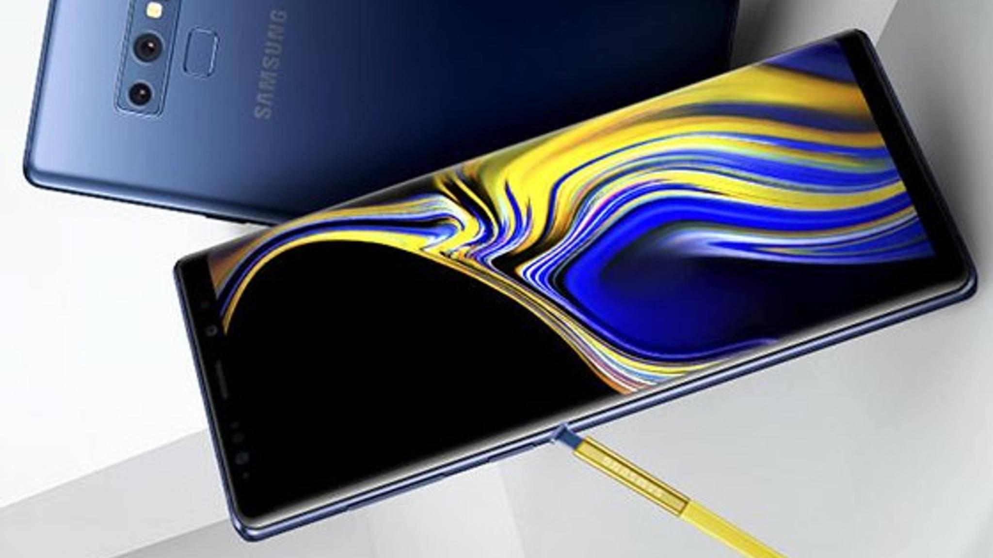 Das Galaxy Note 9 wird bereits am 9. August offiziell vorgestellt.