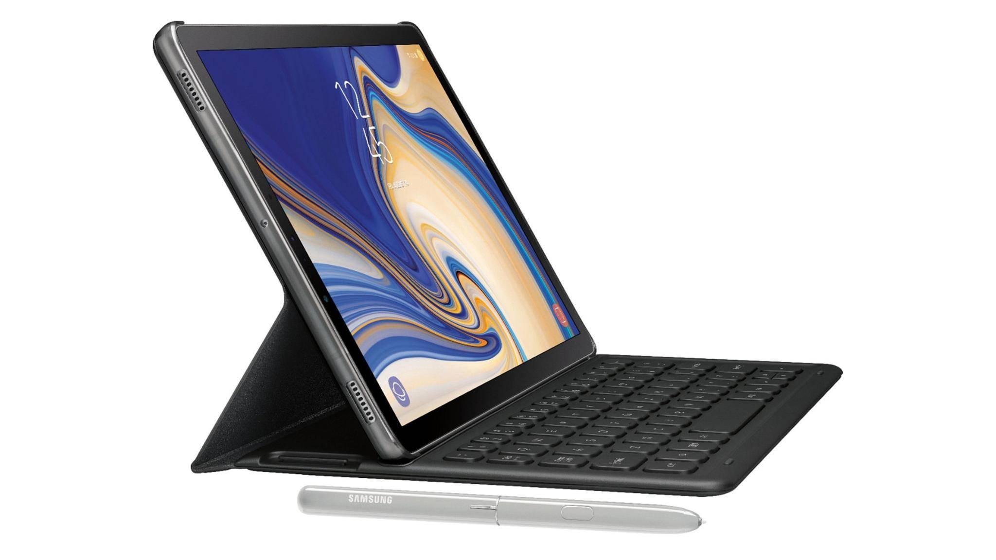Für das Galaxy Tab S4 wird Samsung ein optionales Tastatur-Cover auf den Markt bringen.