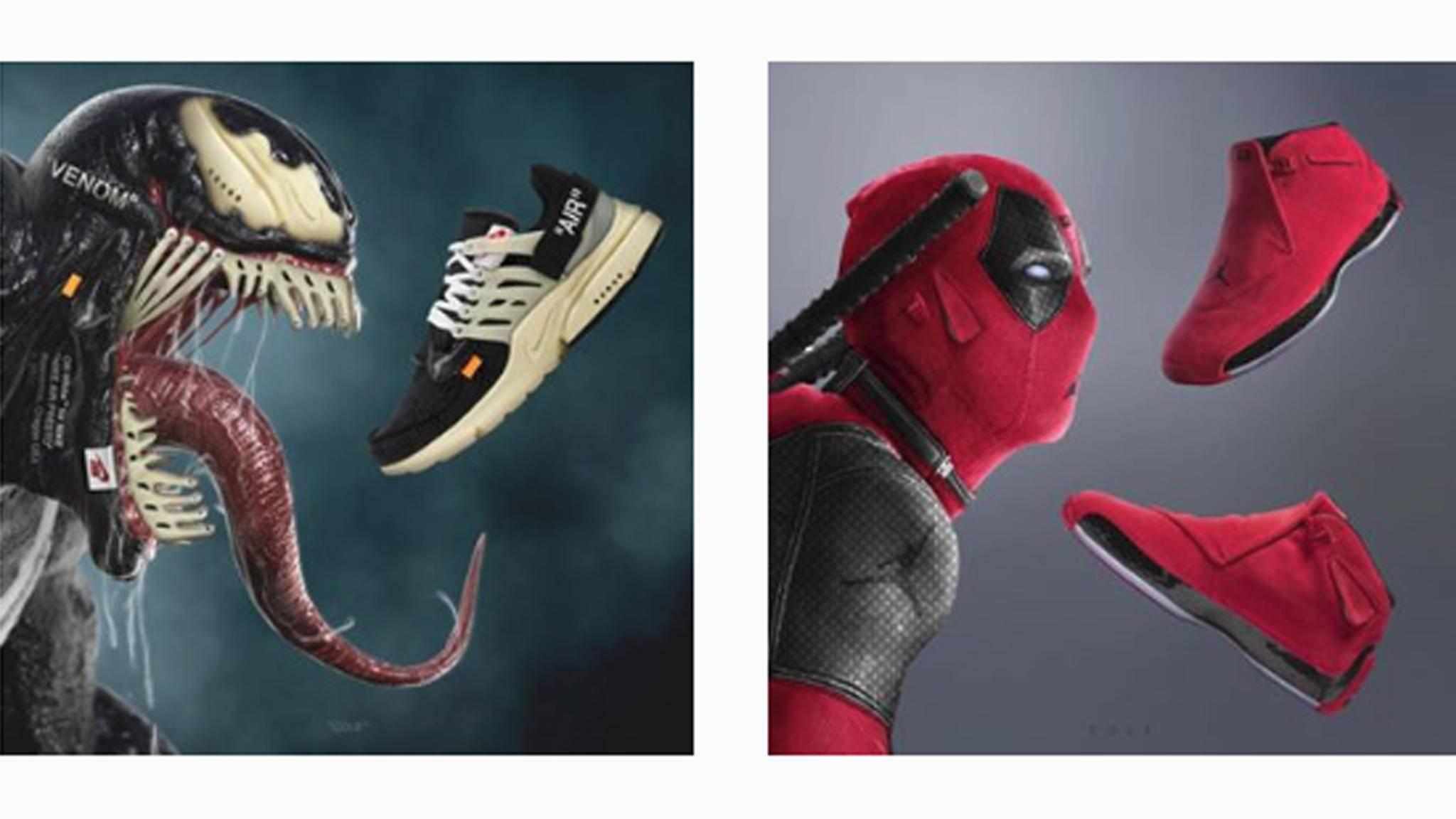 Ob Marvel, DC oder Disney: Jeff Cole kombiniert geschickt TV- und Kinohelden mit aktuellen Nike-Modellen.