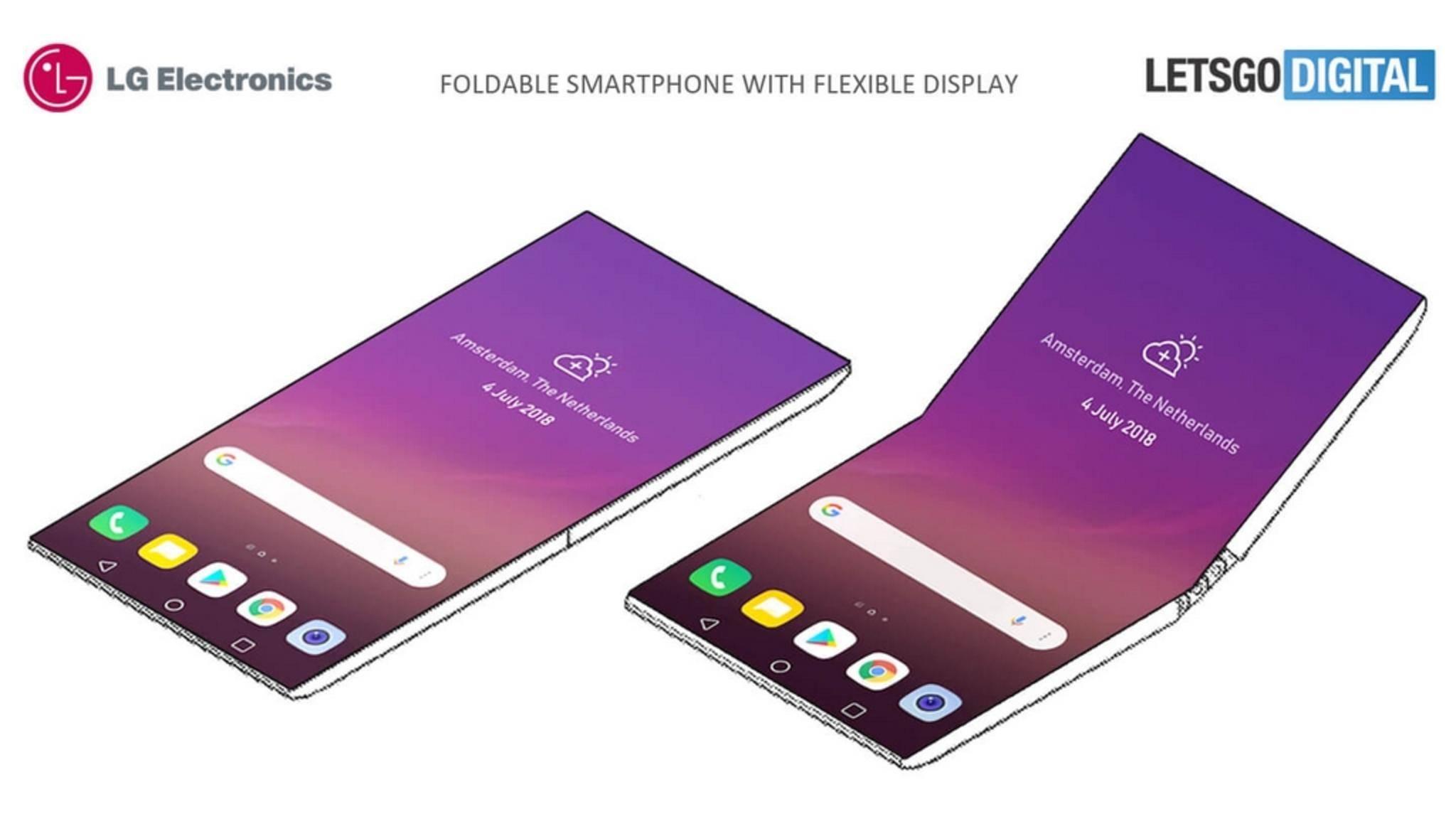 Dieses Patent zeigt ein faltbares Smartphone von LG.