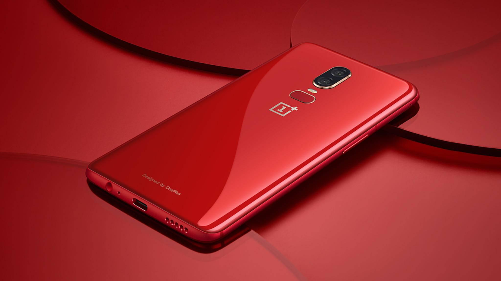 OnePlus verkauft ab dem 10. Juli eine rote Edition des OnePlus 6.