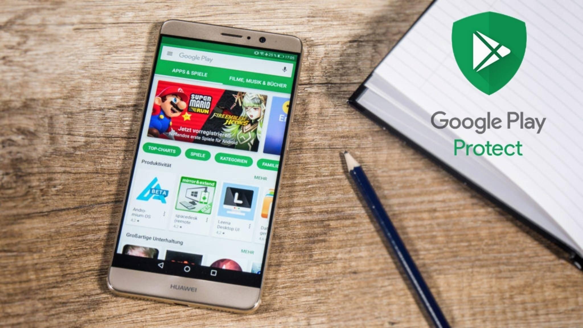 Google Play Protect dient als General-Schutz für Millionen von Android-Geräten.
