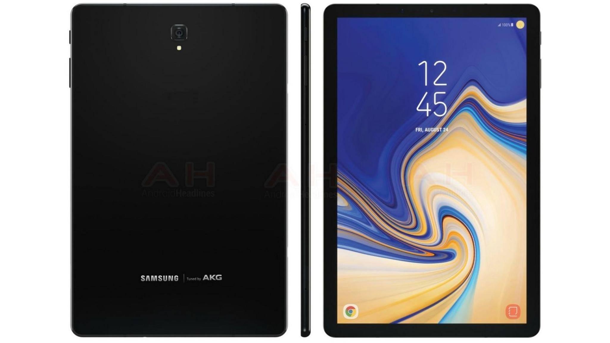 So soll das Samsung Galaxy Tab S4 aussehen.