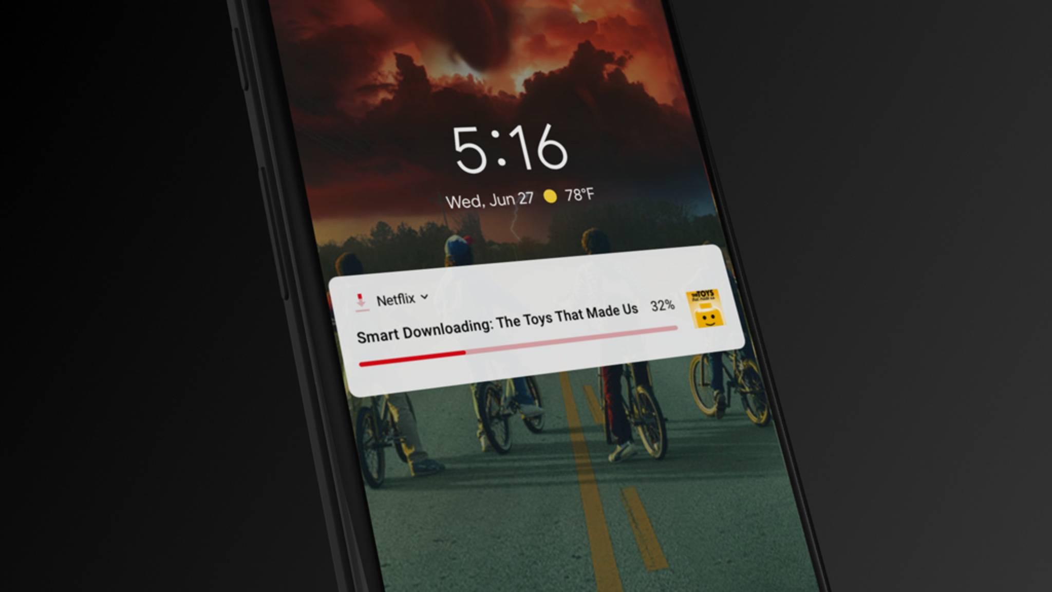 Dank Smart Download wird künftig der Speicher des Smartphones geschont.
