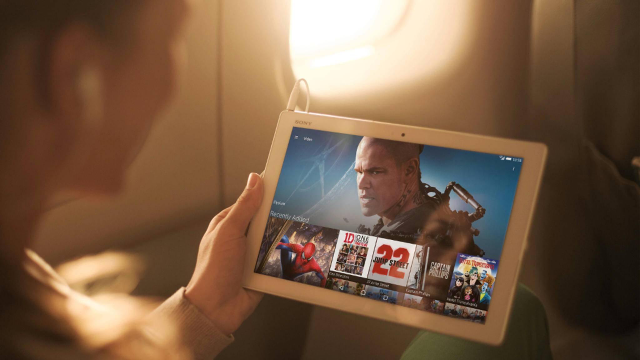 Mit der richtigen App wird das Android-Tablet zum Mediengerät.
