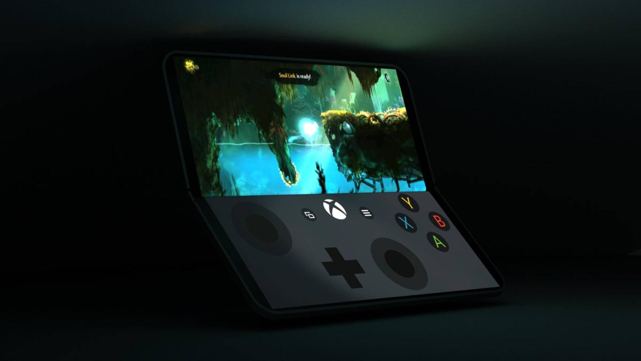 Das Surface Phone im Gaming-Modus.