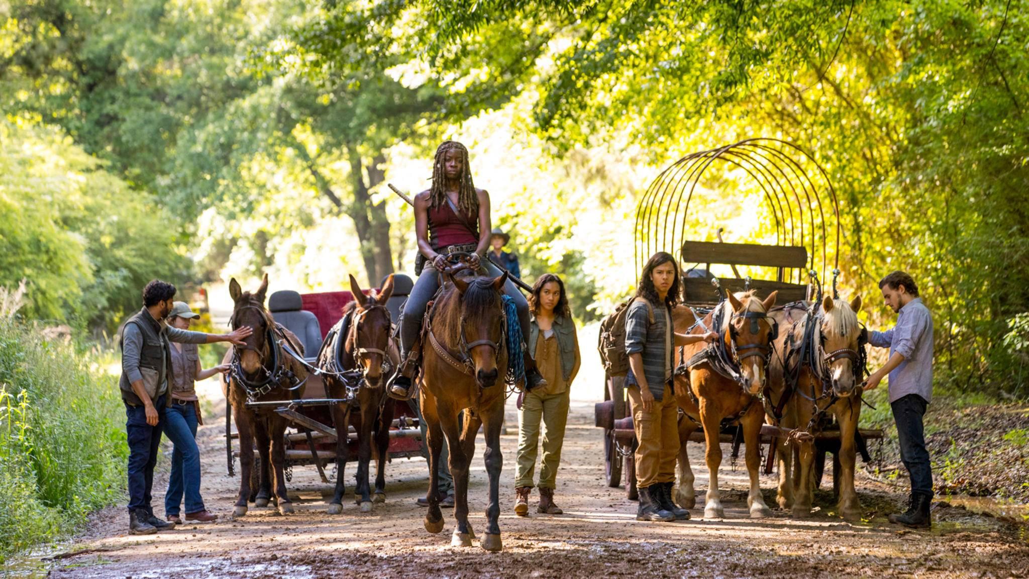 """Michonne wird offenbar nicht nur auf diesem Bild aus Staffel 9 von """"The Walking Dead"""" die Führung übernehmen."""