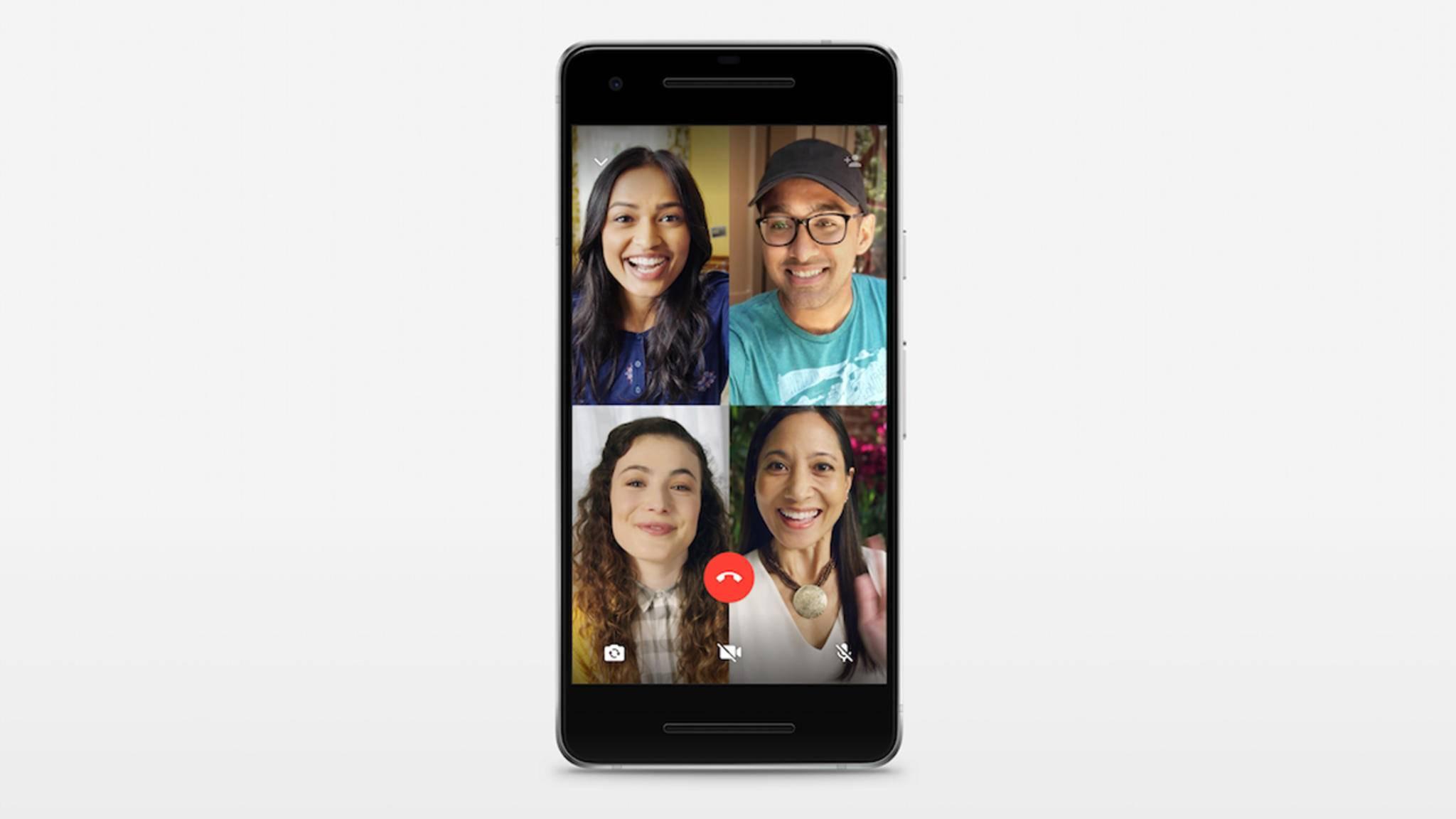 WhatsApp bietet jetzt Sprach- und Videoanrufe für Gruppen.