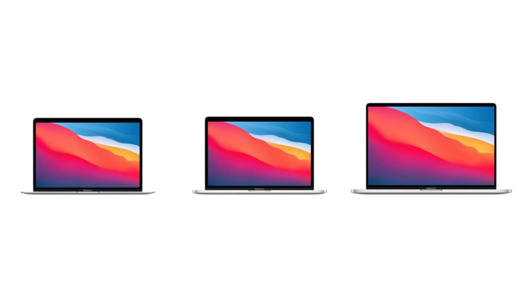 Welches soll es sein? Das MacBook Air, das MacBook Pro 13 oder das MacBook Pro 16.