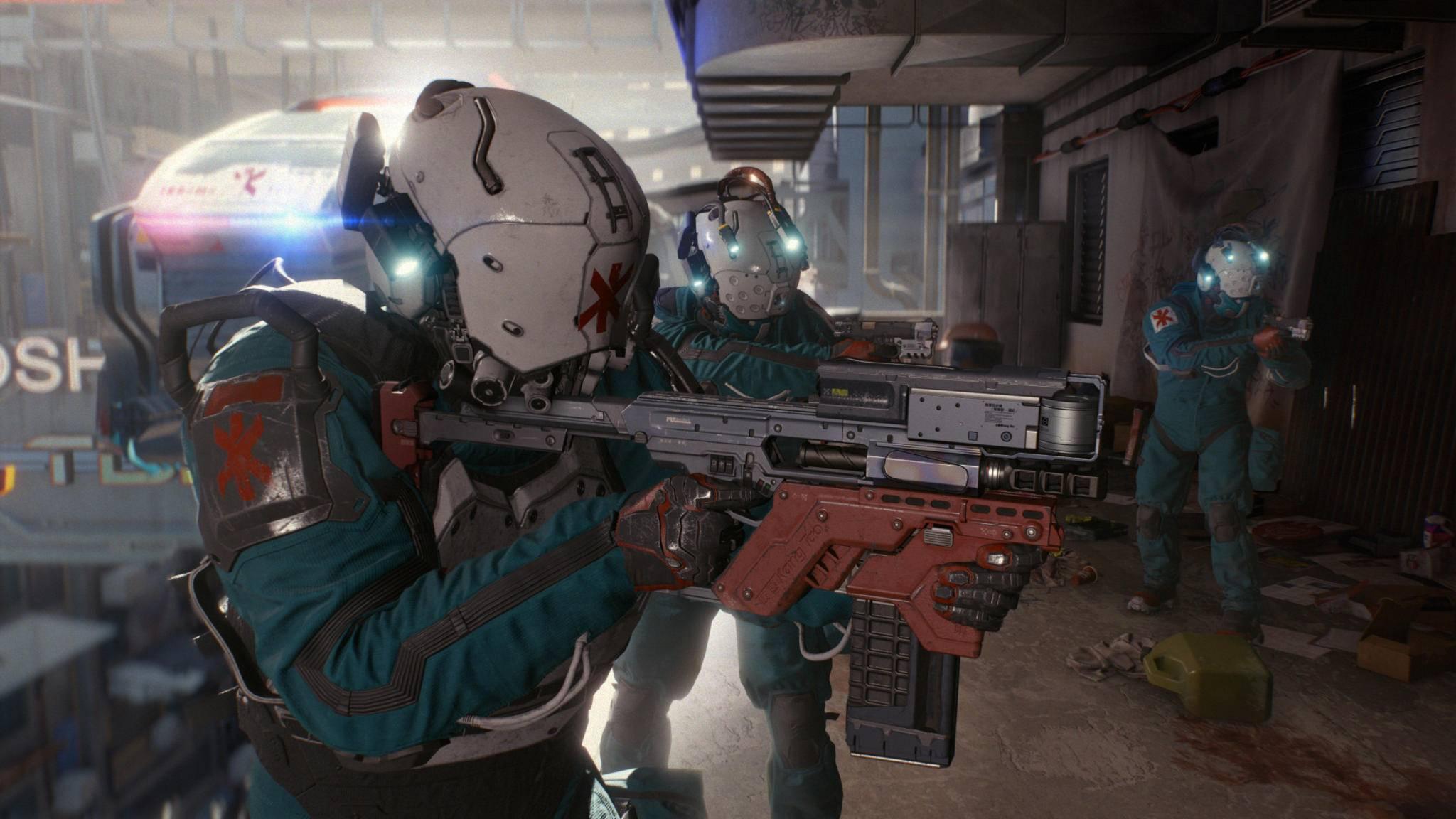 "Shooter-Feeling: Das Trauma Team in ""Cyberpunk 2077""."
