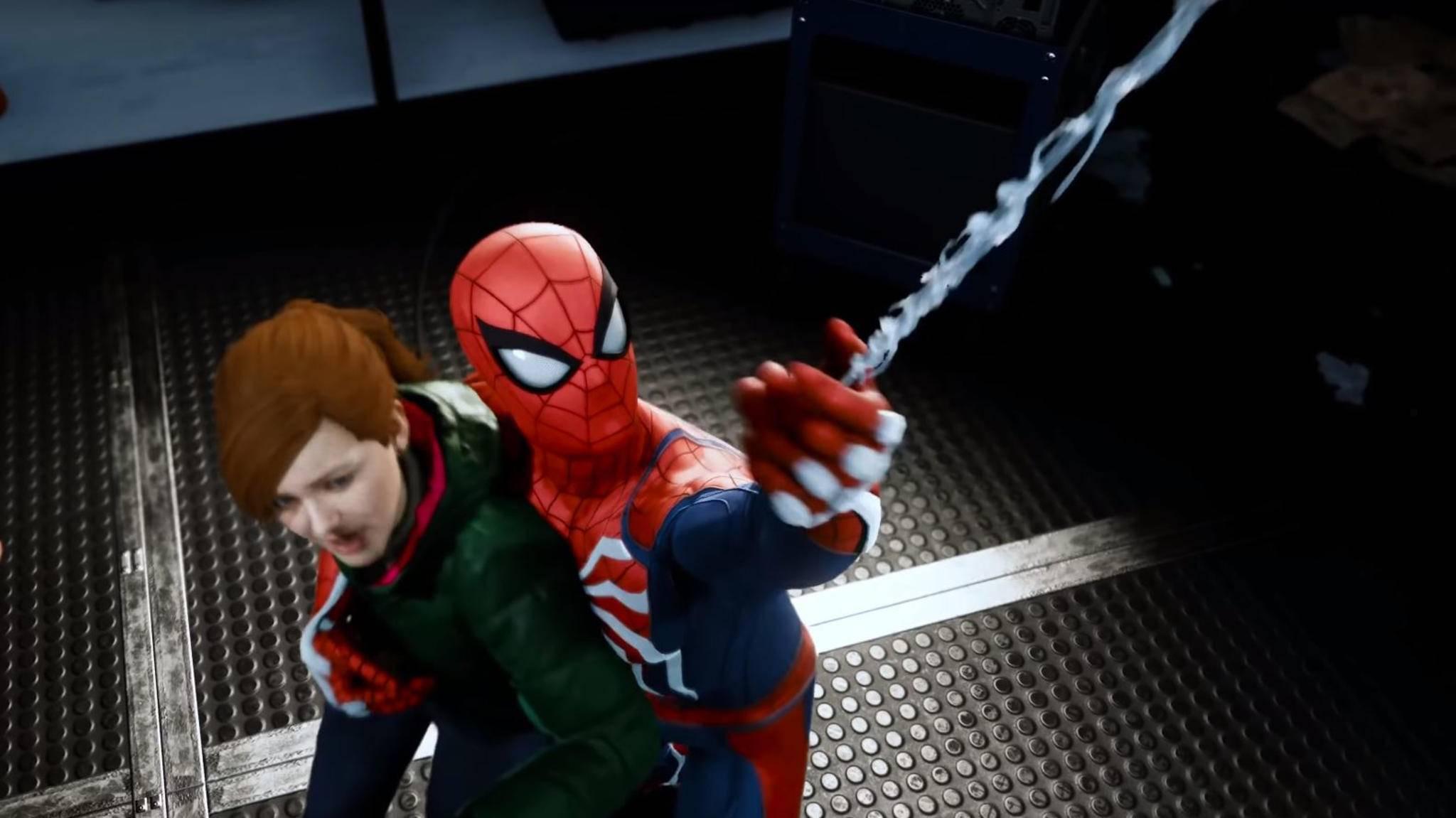 Spider-Man rettet Mary Jane aus einer misslichen Lage.