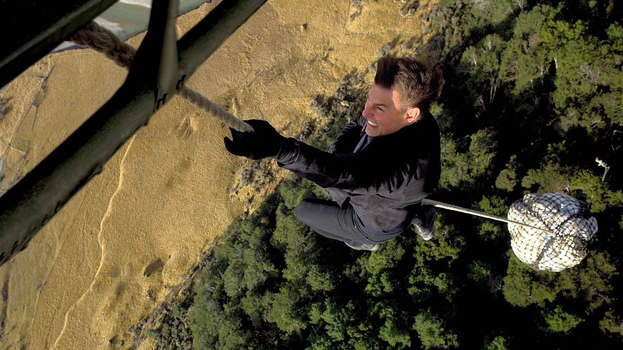 Tom is back! Auch mit Mitte 50 traut sich der Hollywoodstar an gefährliche Stunts wie diesen hier.