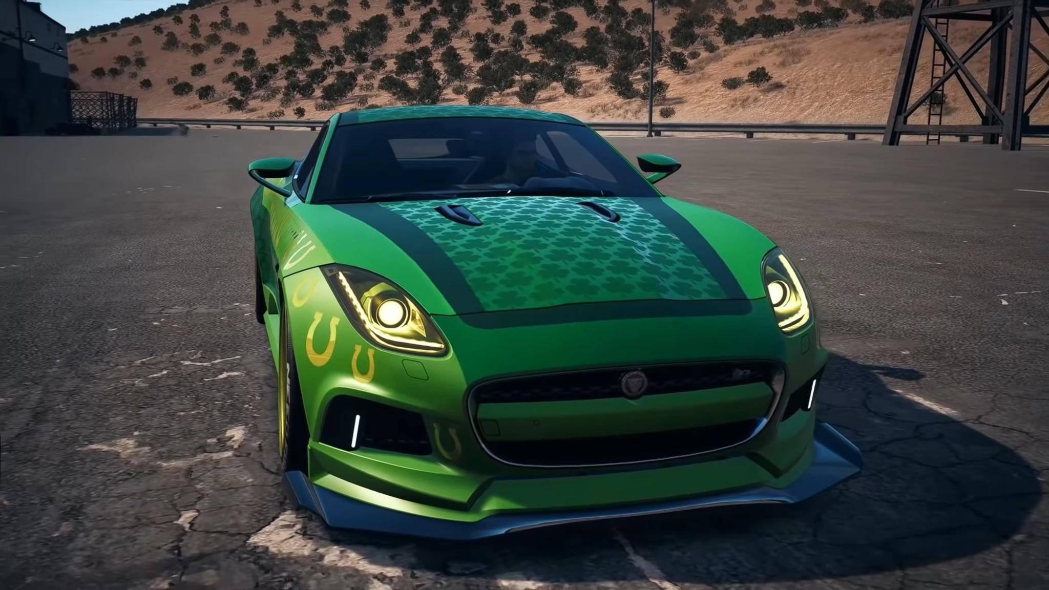 Das stillgelegte dieser Woche ist ein Jaguar F-Type in den Farben von St. Patrick.