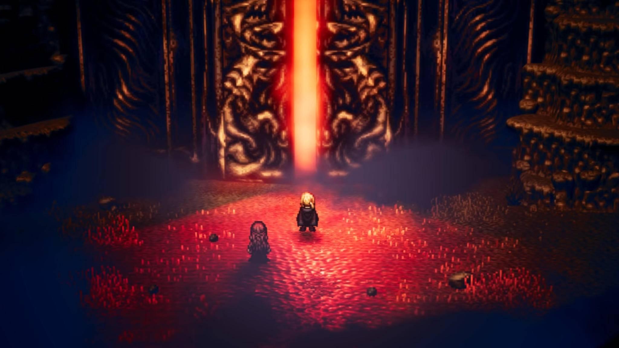"""Der Eingang zum großen Finalgefecht von """"Octopath Traveler"""" steht nur den mutigsten Abenteurern offen."""