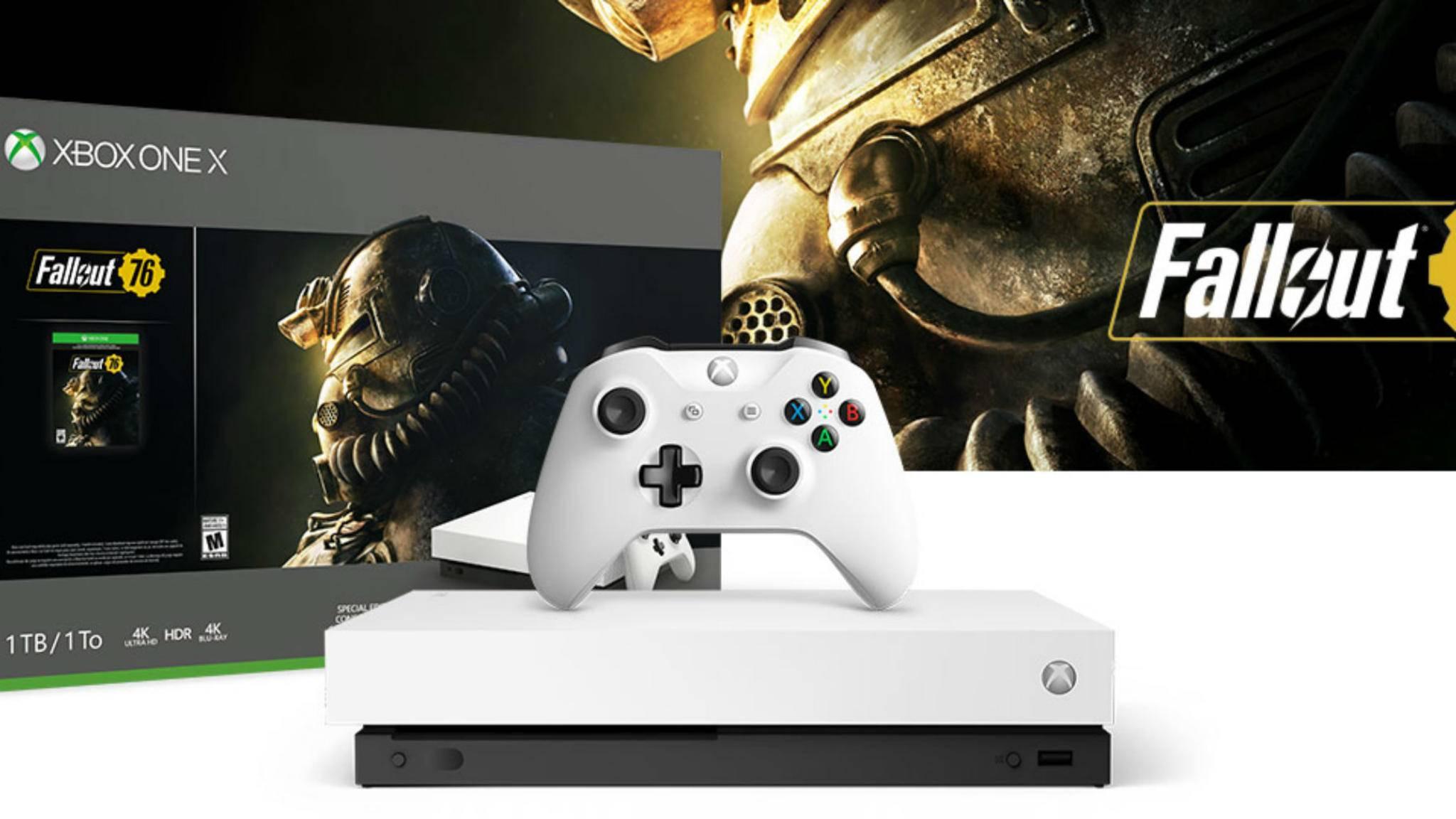 Die weiße Xbox One X: Bisher war die überarbeitete Konsole nur in Schwarz erhältlich.