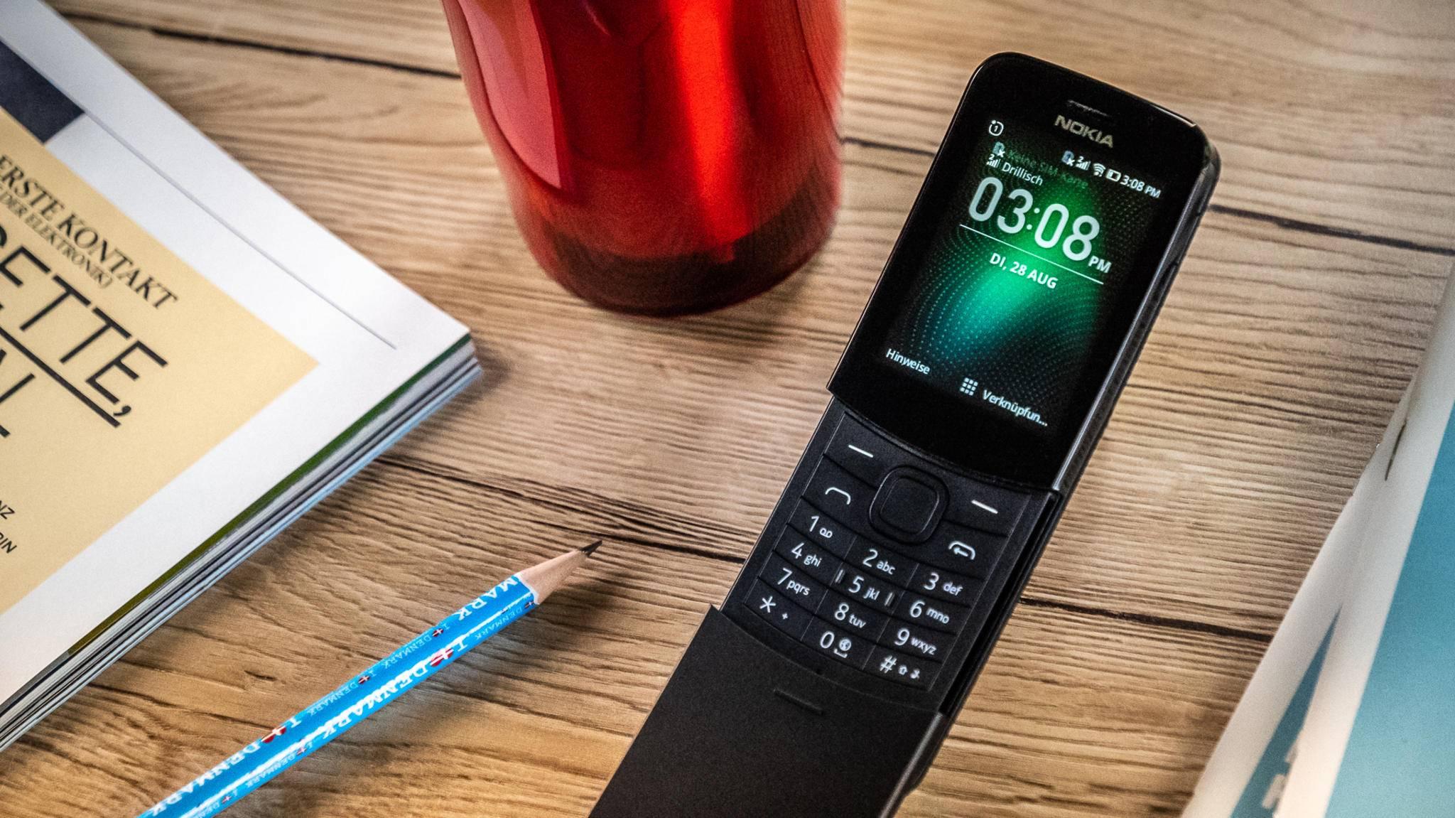 """Die Neuauflage des """"Matrix""""-Klapphandys Nokia 8110 4G kam vor kurzem auf den Markt."""