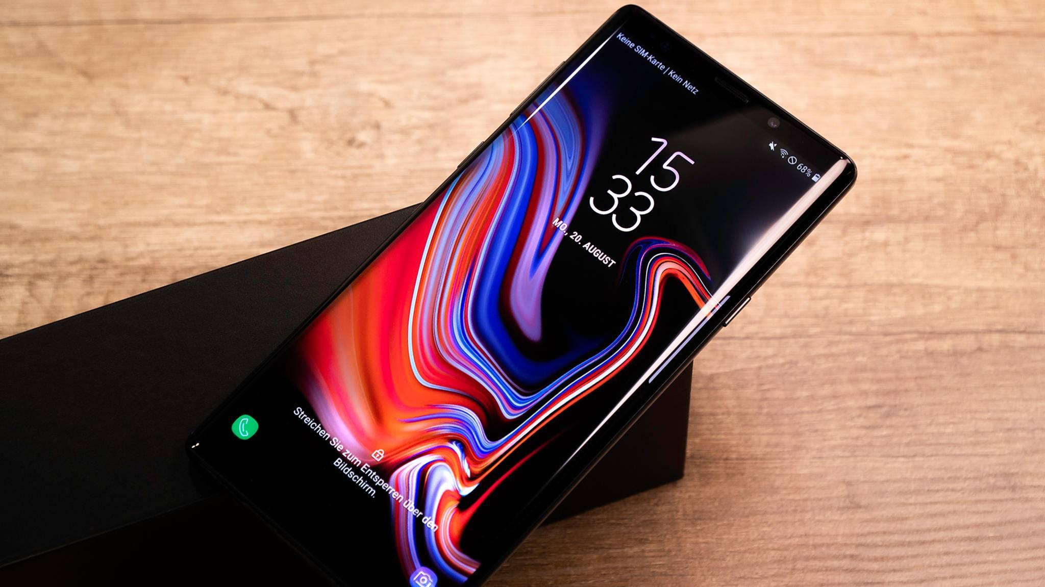 Das 512-GB-Modell des Galaxy Note 9 kostet immerhin 1250 Euro.