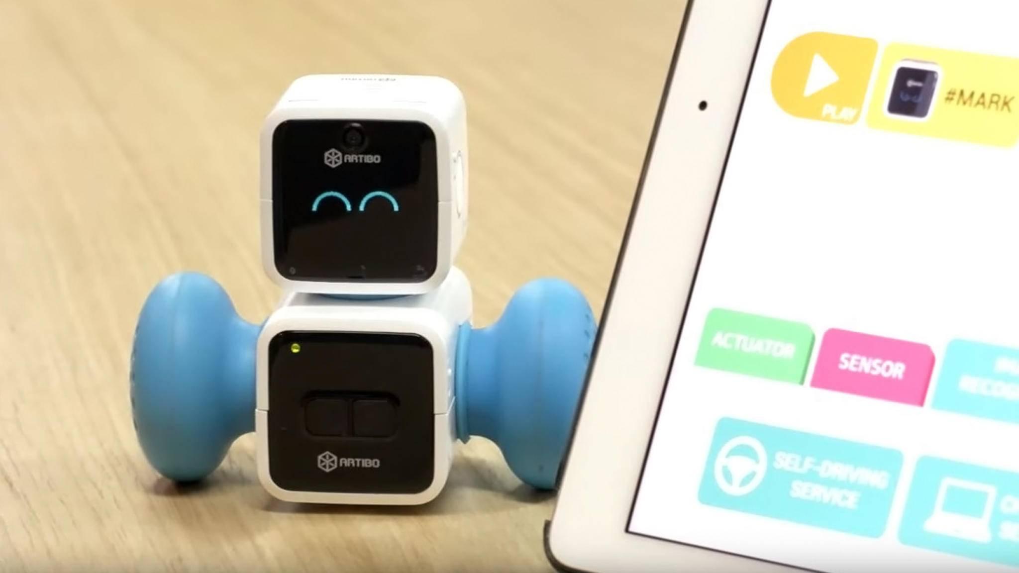 Klein und doch so nützlich: der Mini-Roboter Artibo.