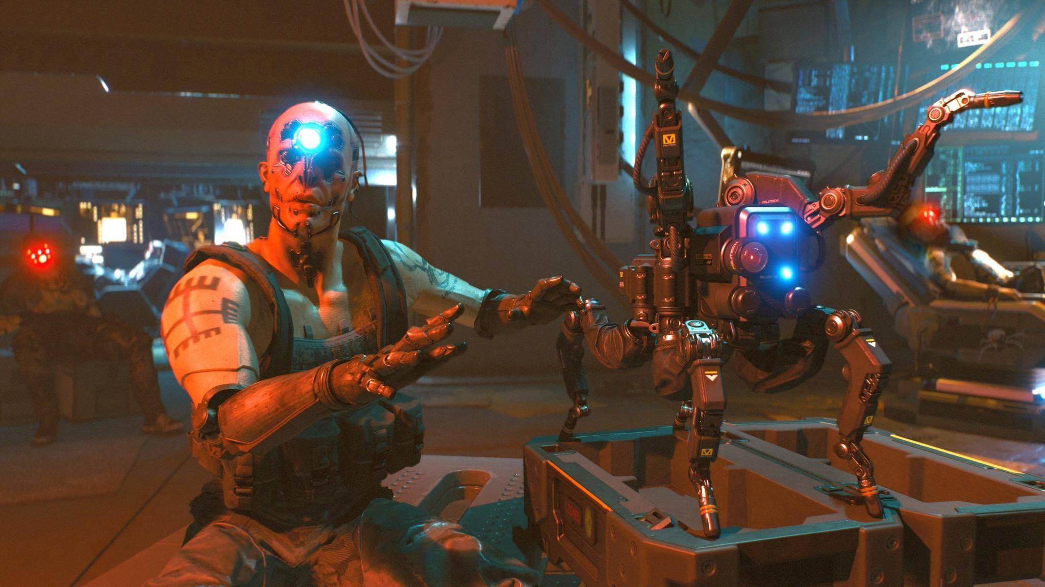 """Nein, krabbeln kann die """"Cyberpunk 2077""""-Xbox vermutlich nicht."""