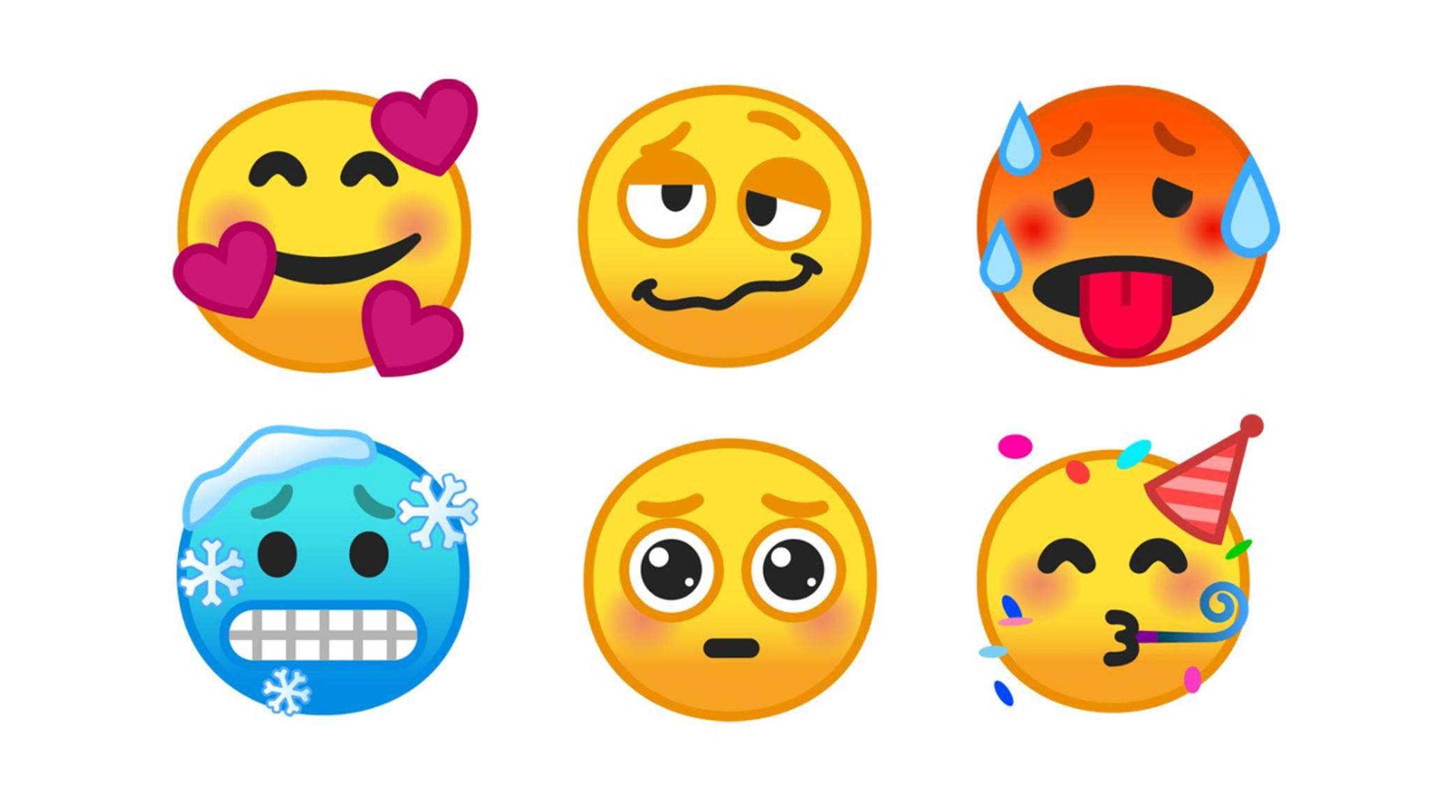Diese Emojis gehören zu den neuen Symbolen in Android Pie.