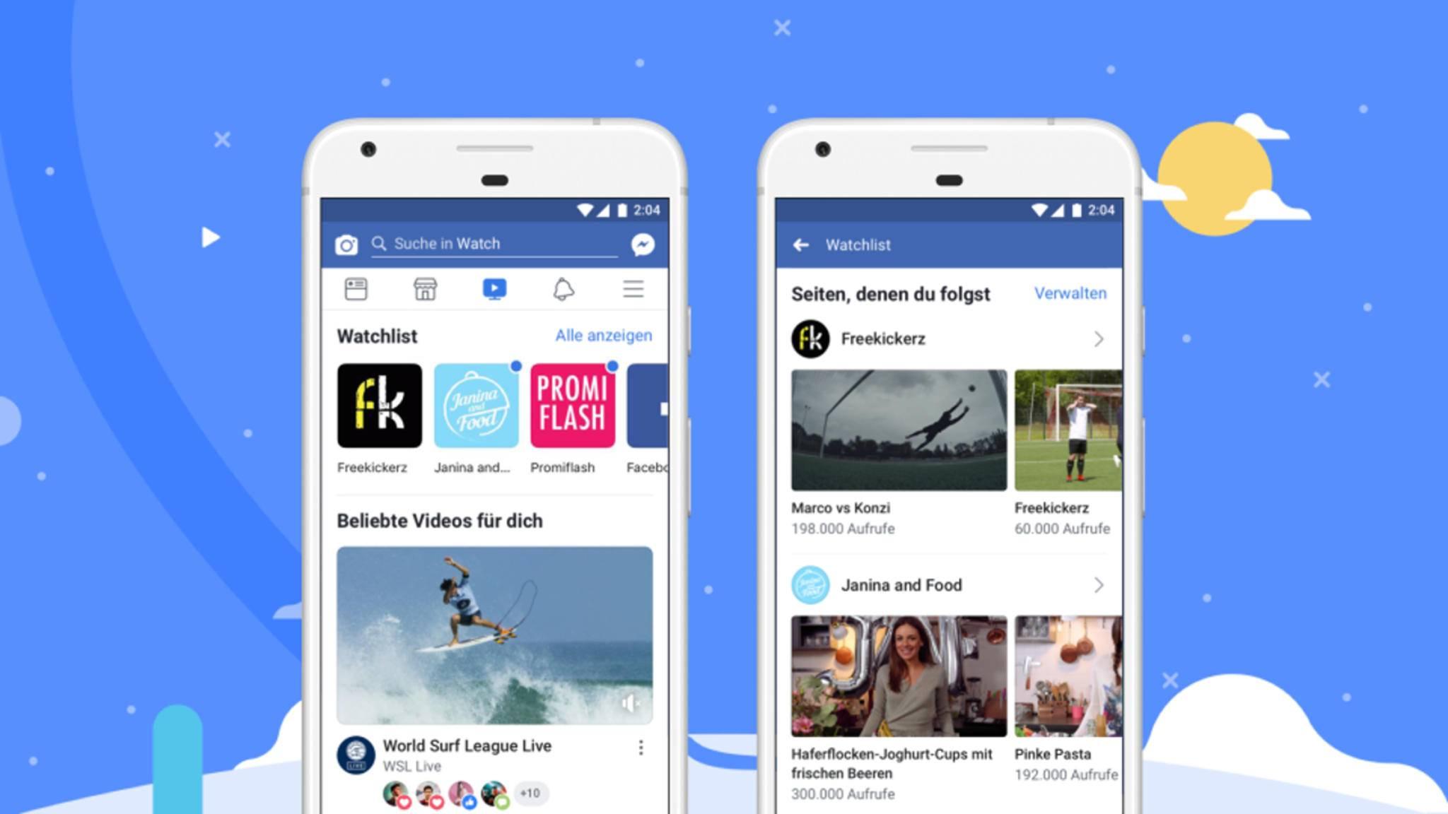 Der Videodienst Facebook Watch startet nun auch in Deutschland.