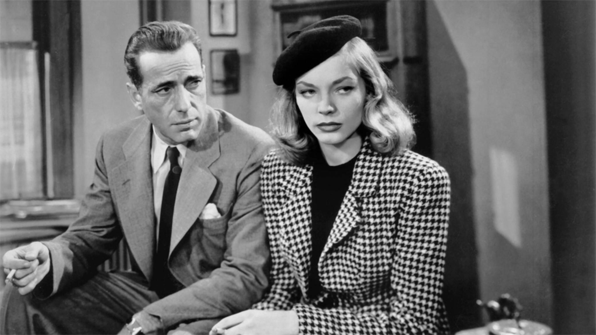 Humphrey Bogart (hier an der Seite von Lauren Bacall) ist einer der großen Stars des Film noir.