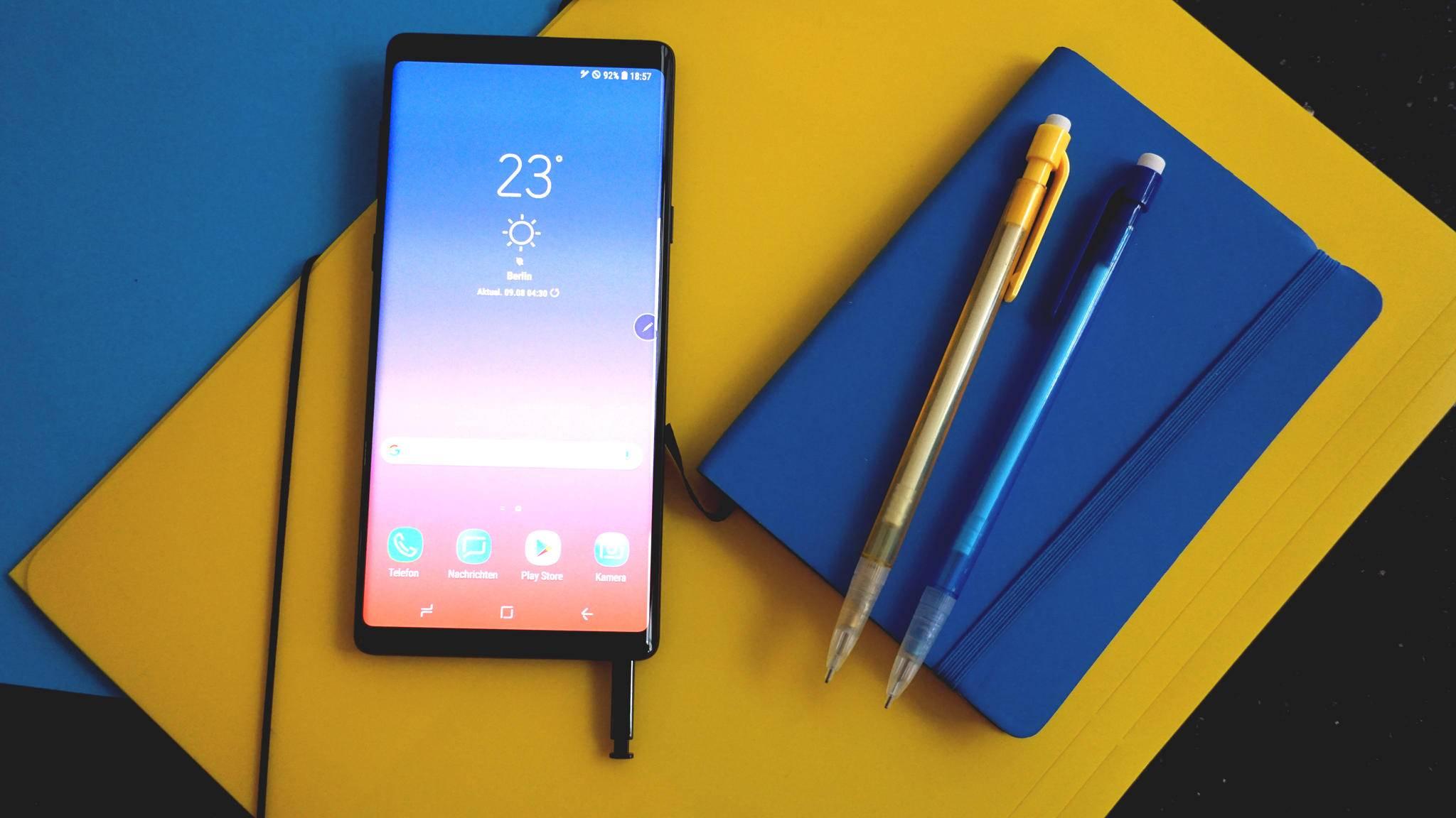 as Galaxy Note 9 soll das beste Smartphone-Display überhaupt haben.