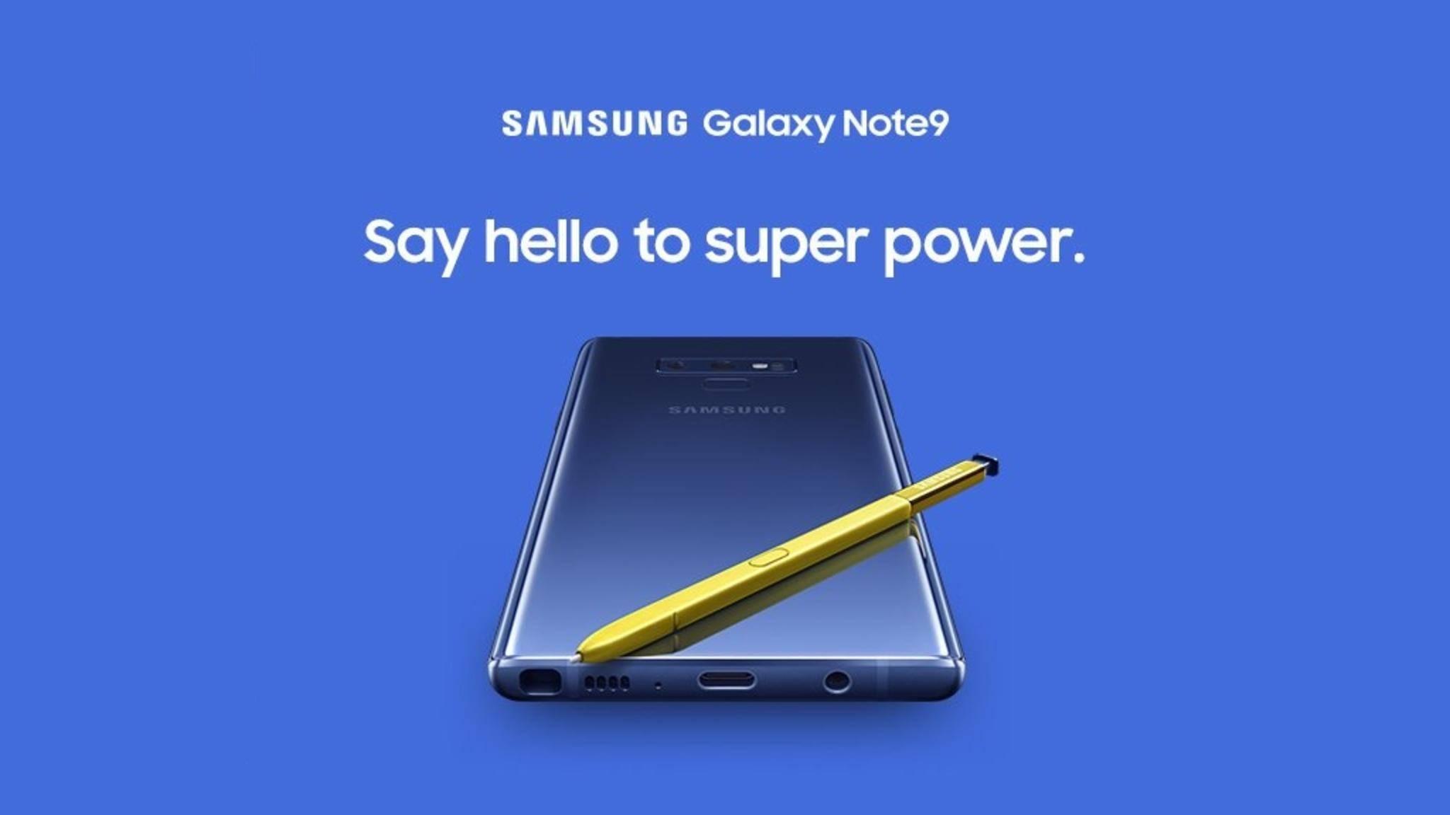 Dieses Bild veröffentlichte Samsung selbst vom Galaxy Note 9.