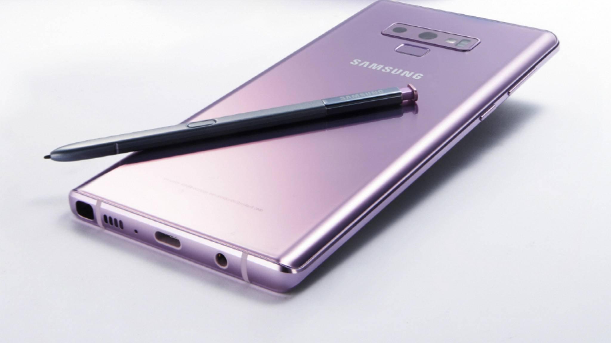 Das Galaxy Note 9 wurde in der vergangenen Woche endlich vorgestellt.