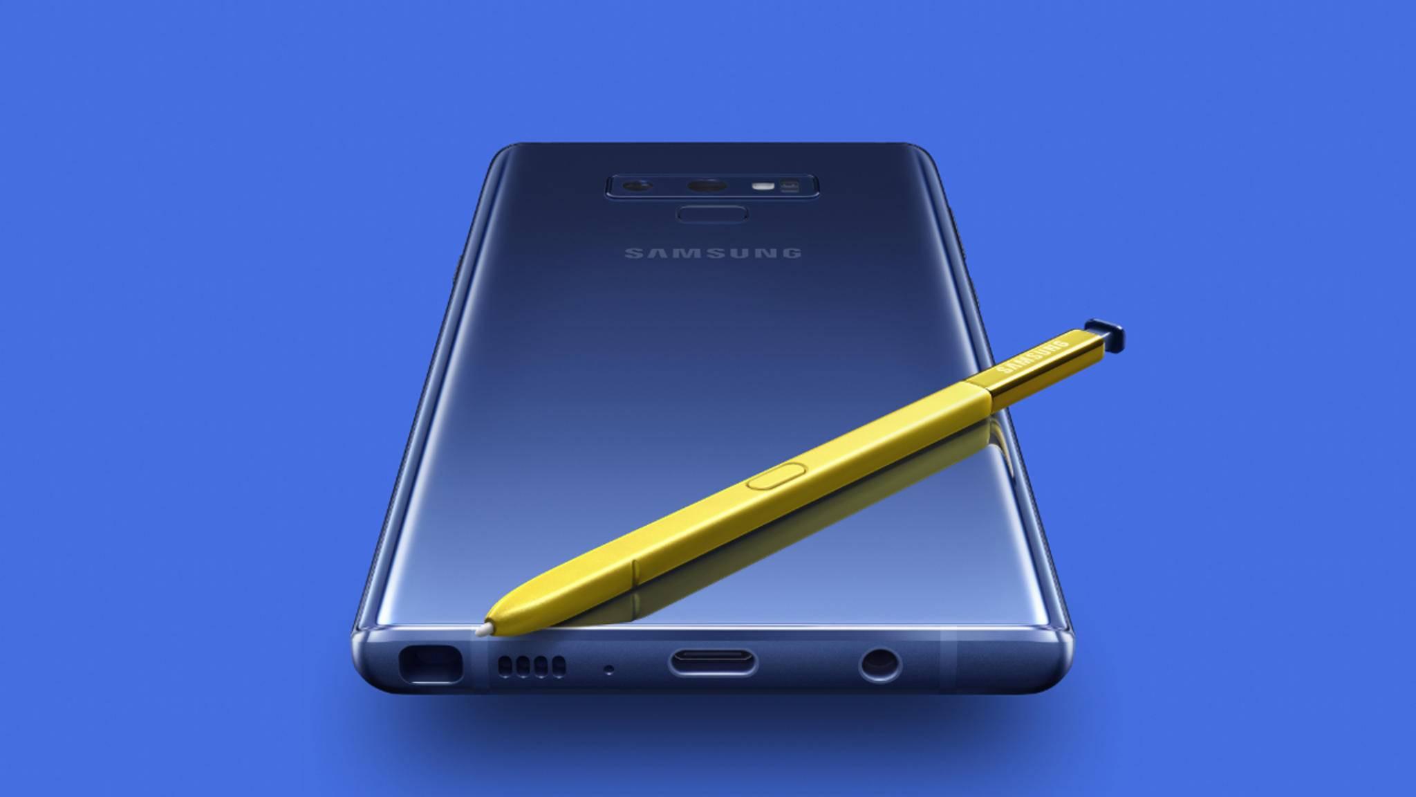 Kann das Galaxy Note 8 noch mit dem Note 9 (Bild) mithalten?