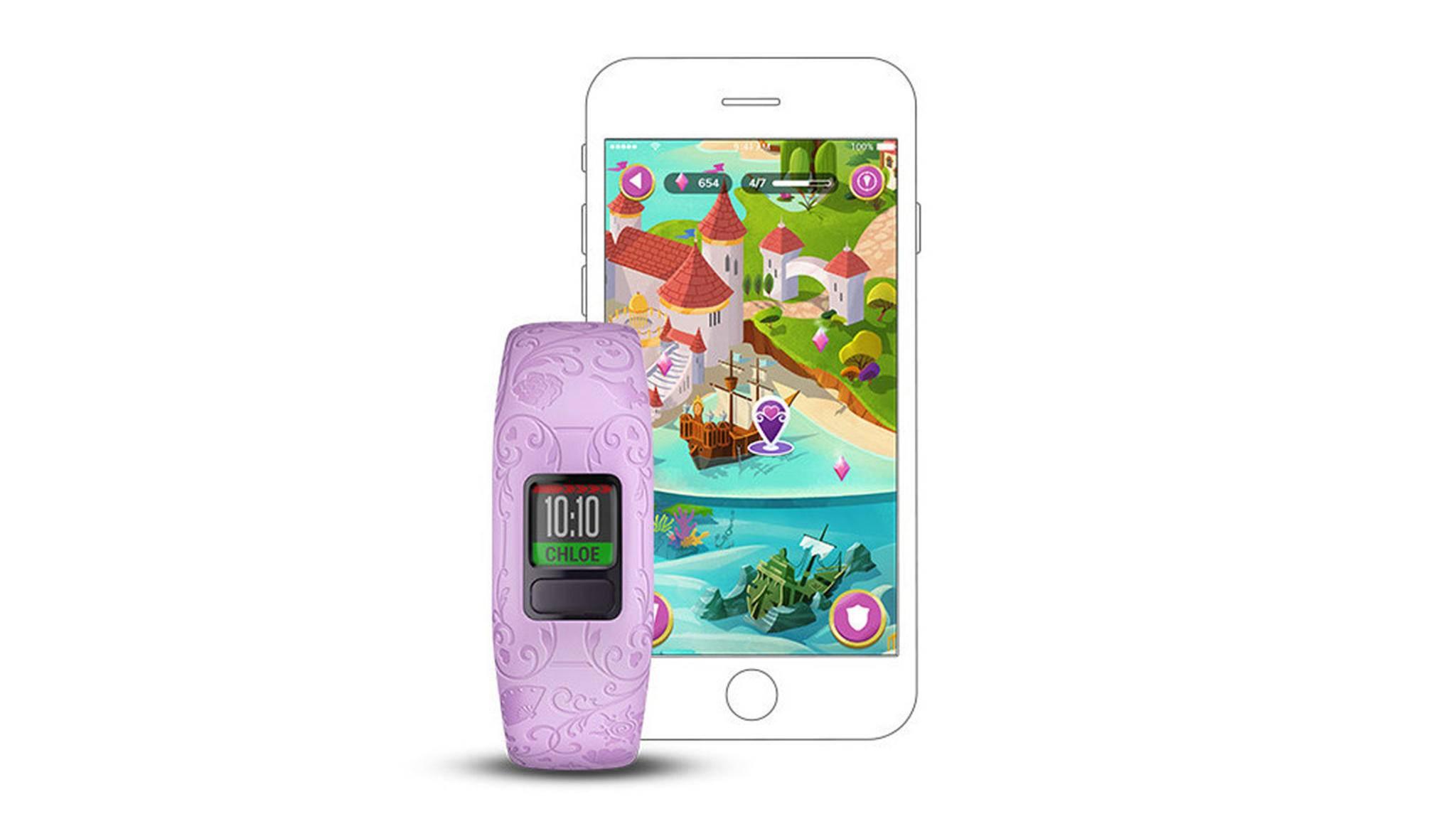 Ein Fitness-Tracker aus Disney-Träumen: Garmin Vivofit jr. 2 in der Prinzessinnen-Edition.