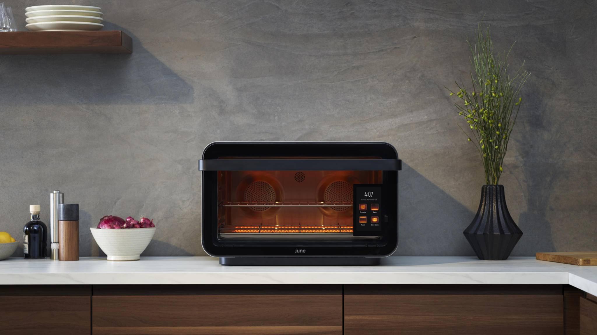 Essen rein, Programm wählen, warten, fertig: Mit June Oven soll kein Essen mehr verbrennen.
