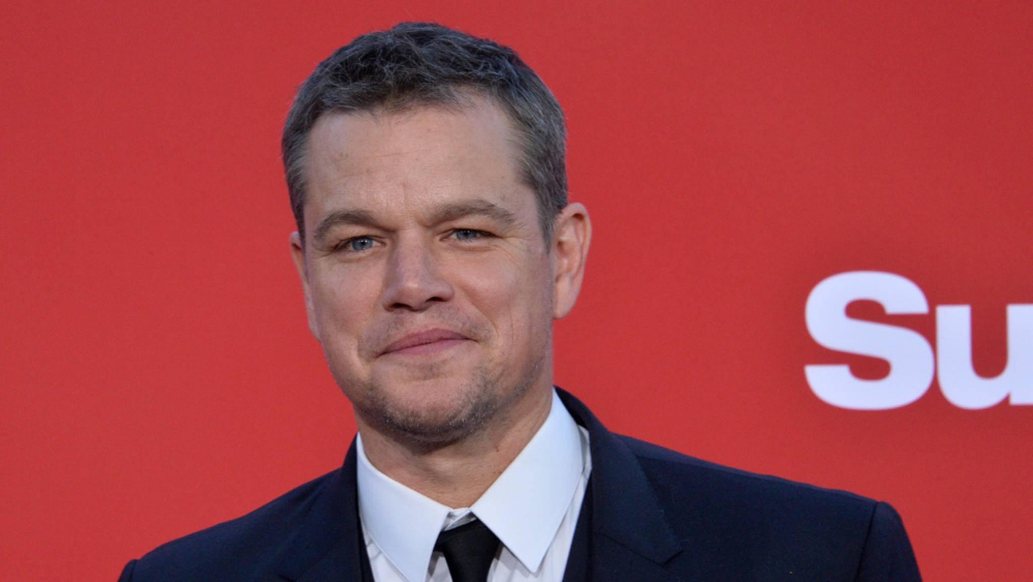 """So schick ist Matt Damon in """"Deadpool 2"""" nicht zu sehen ... Stattdessen trat er im Zottel-Look vor die Kamera."""