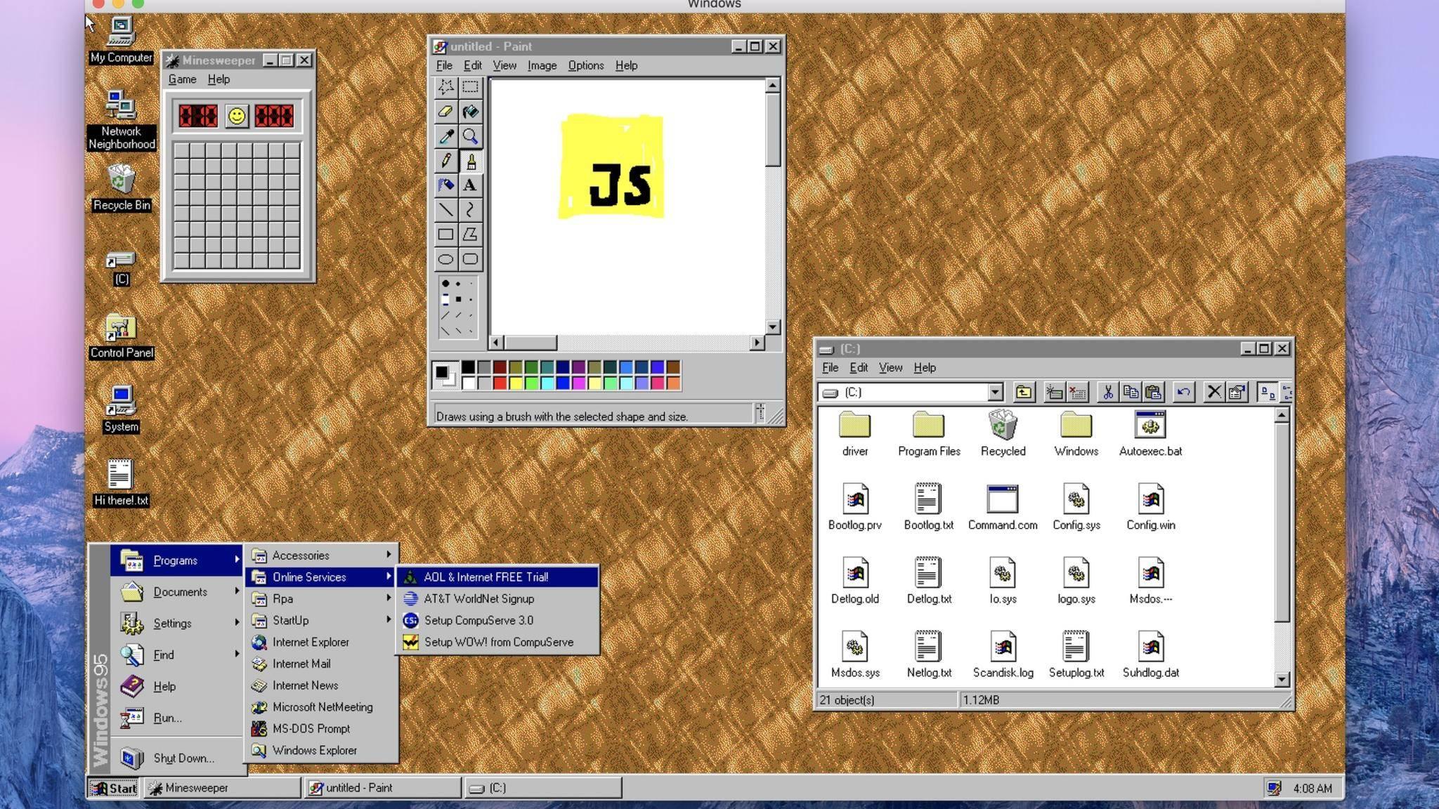 Windows 95 lässt sich nun als App nutzen.