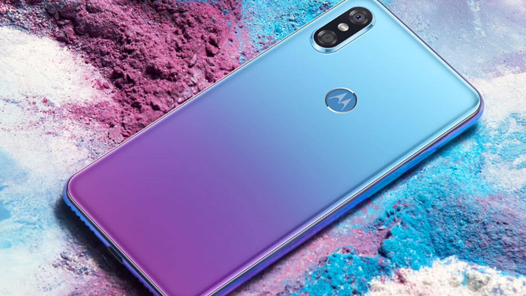 Das Motorola P30 erscheint auch in der schicken Farbvariante Aurora.
