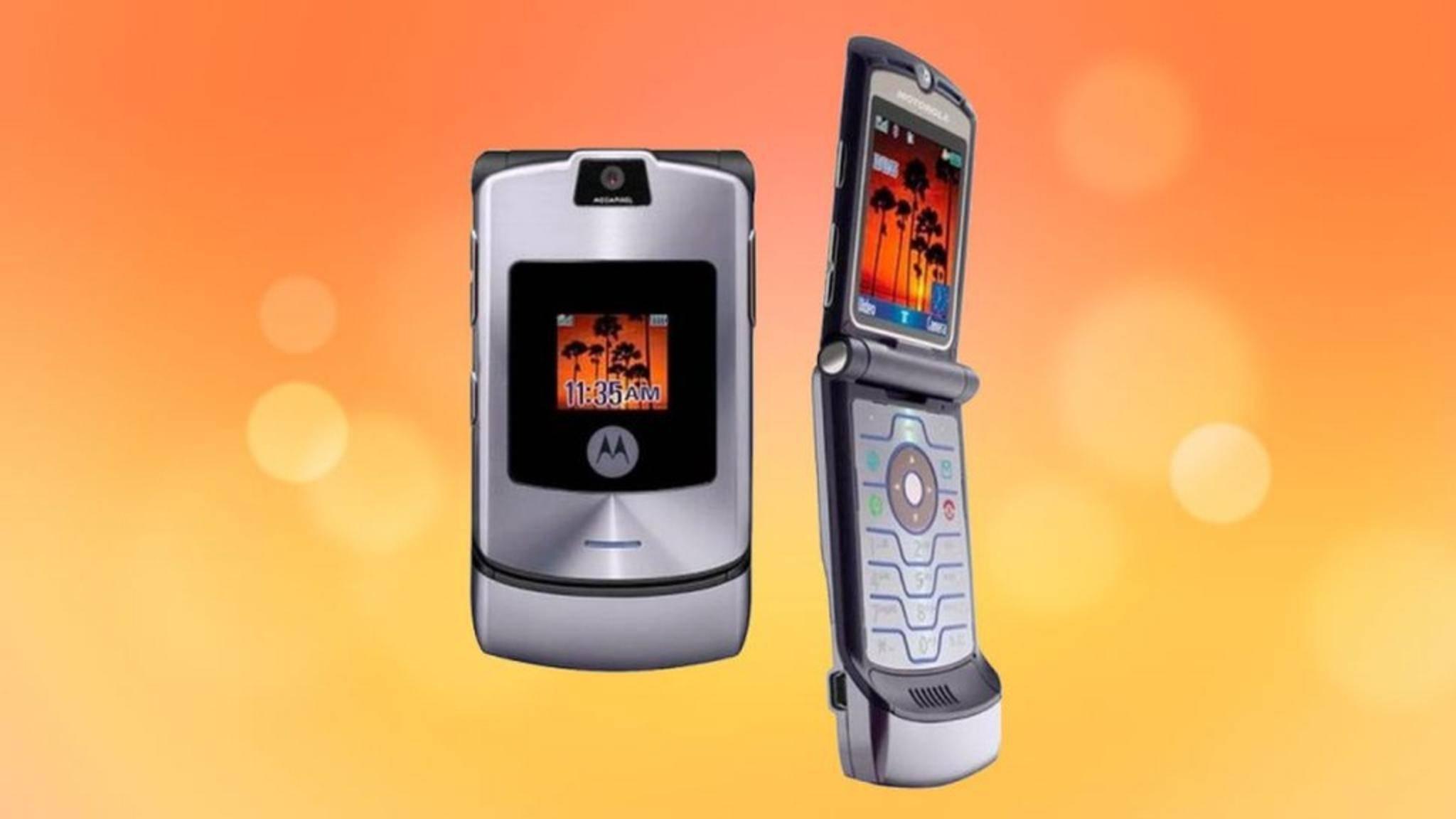 Das ikonische Motorola Razr V3 kam 2004 auf den Markt.