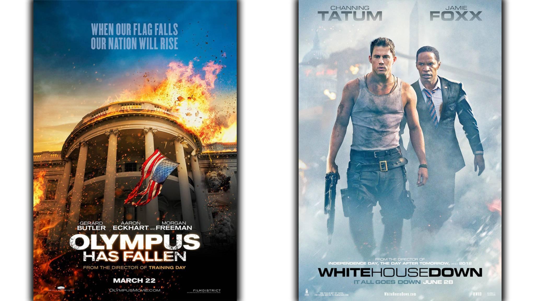 """Beide Filme erschienen im gleichen Jahr, beide hatten das gleiche Thema: """"Olympus Has Fallen"""" und """"White House Down""""."""