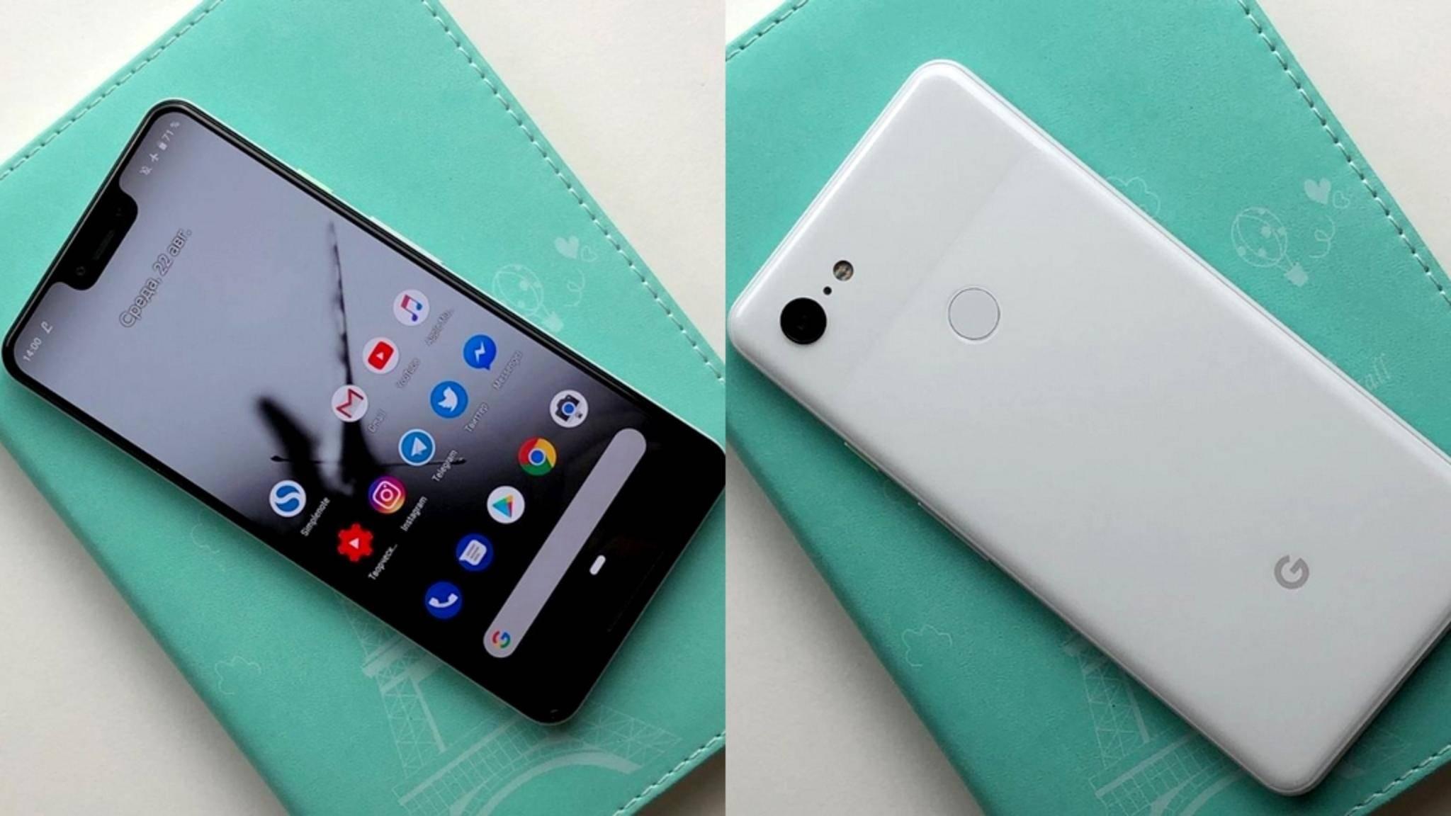 Sind diese Fotos vom Google Pixel 3 XL absichtliche Fakes?