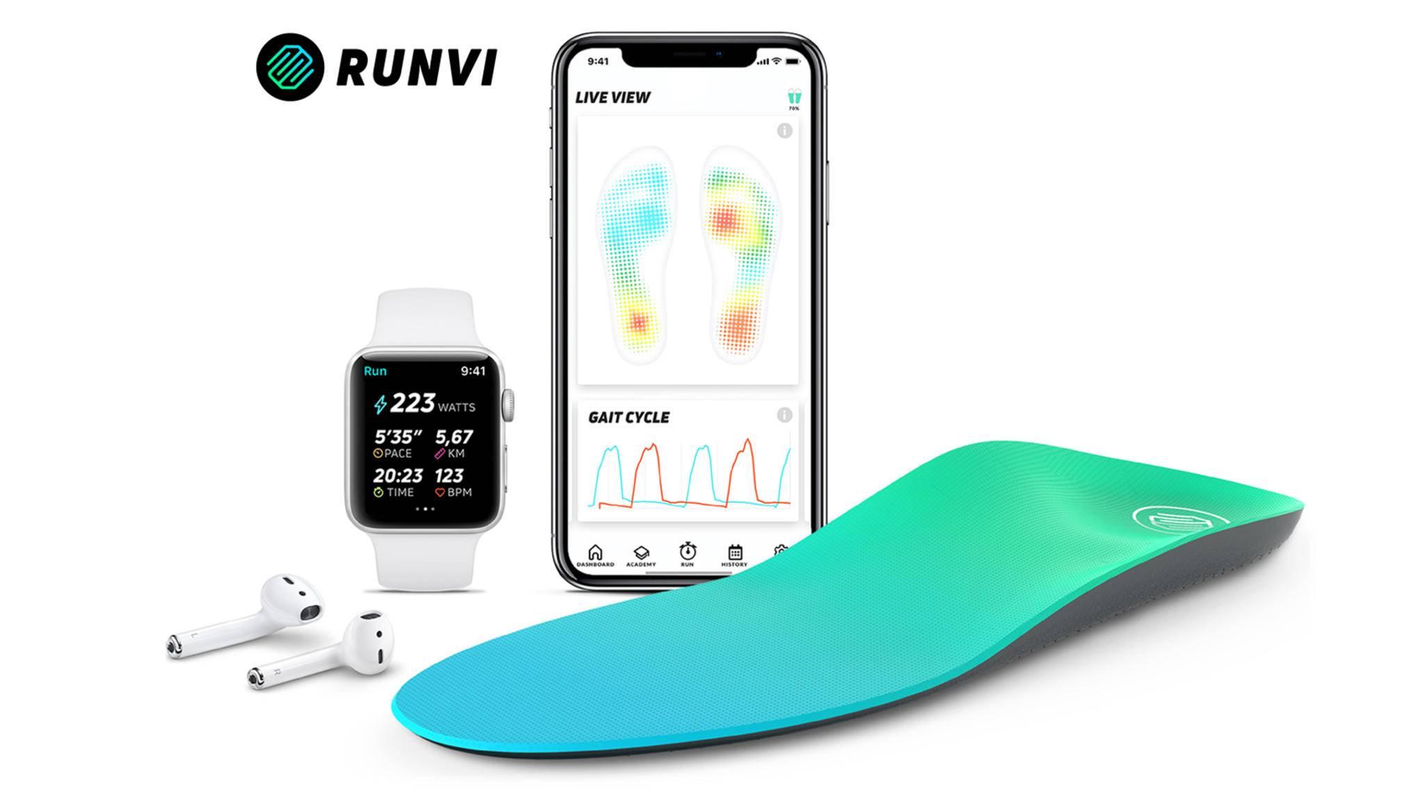 Smarte Einlagen wie von Runvi bieten eine Vielzahl wichtiger Fitness-Daten.