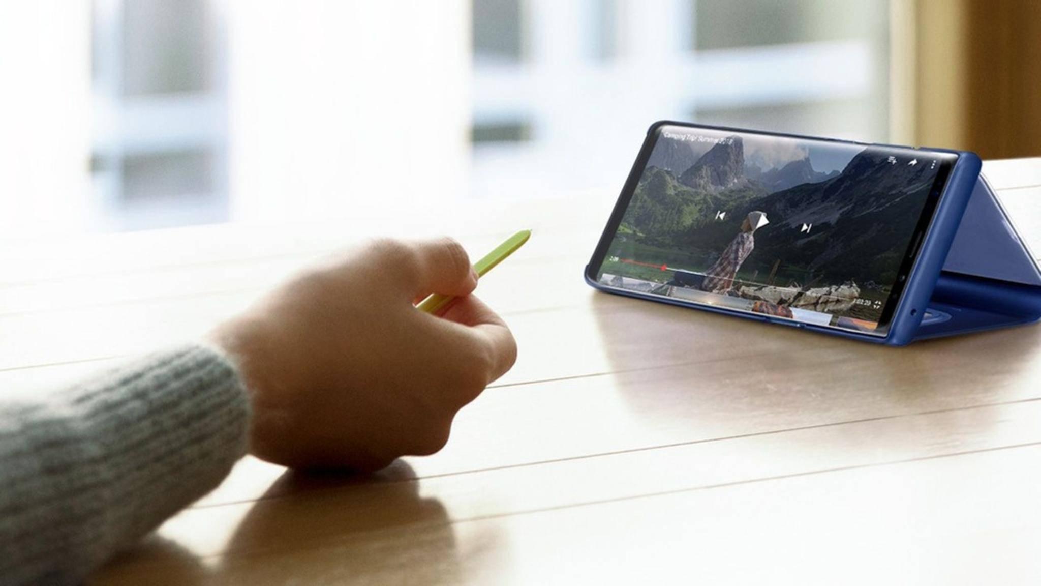Die neue S-Pen-Fernsteuerung des Note 9 kann sehr nützlich sein.