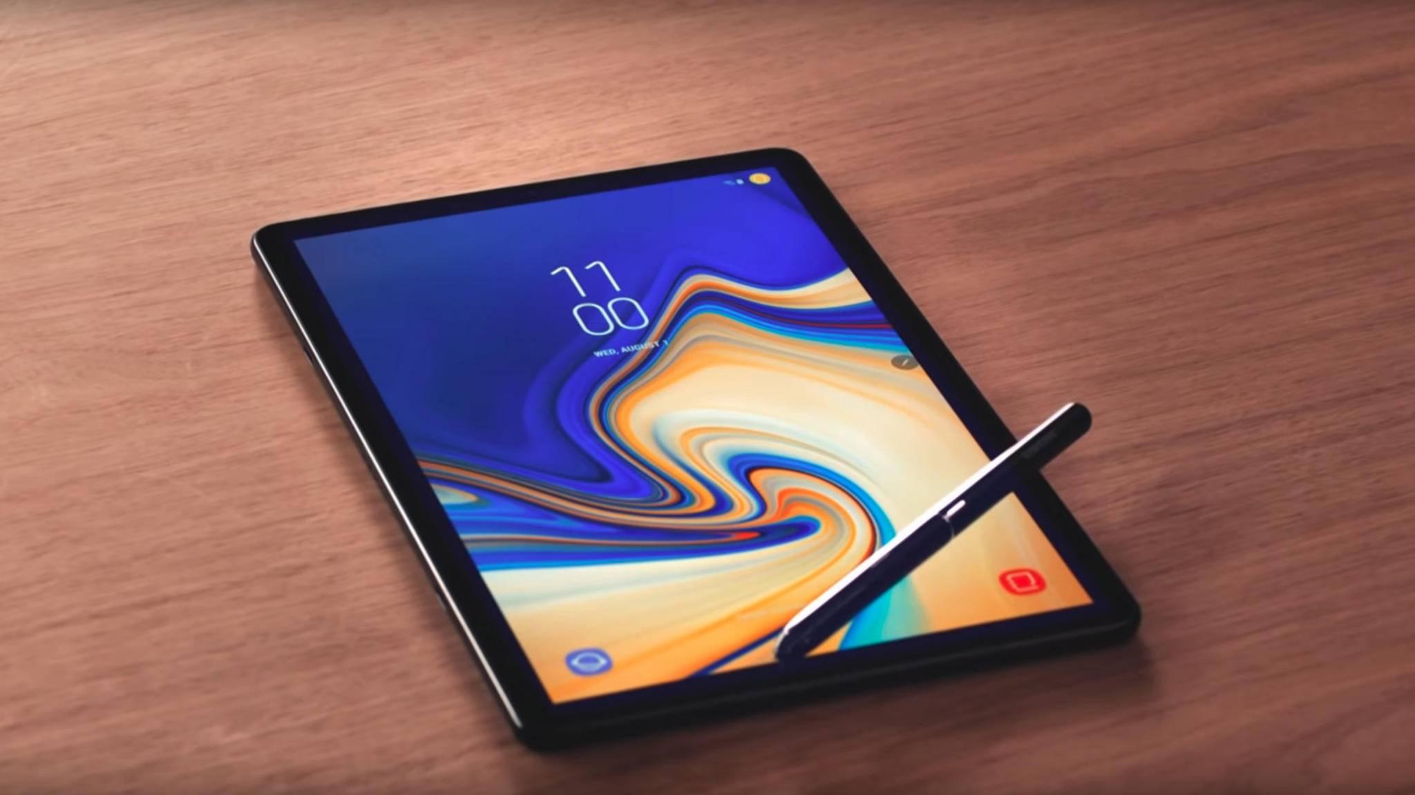 Nach dem Mittelklasse-Modell Galaxy Tab S5e bekommt das Galaxy Tab S4 (im Bild) mit dem Galaxy Tab S6 einen richtigen Nachfolger.