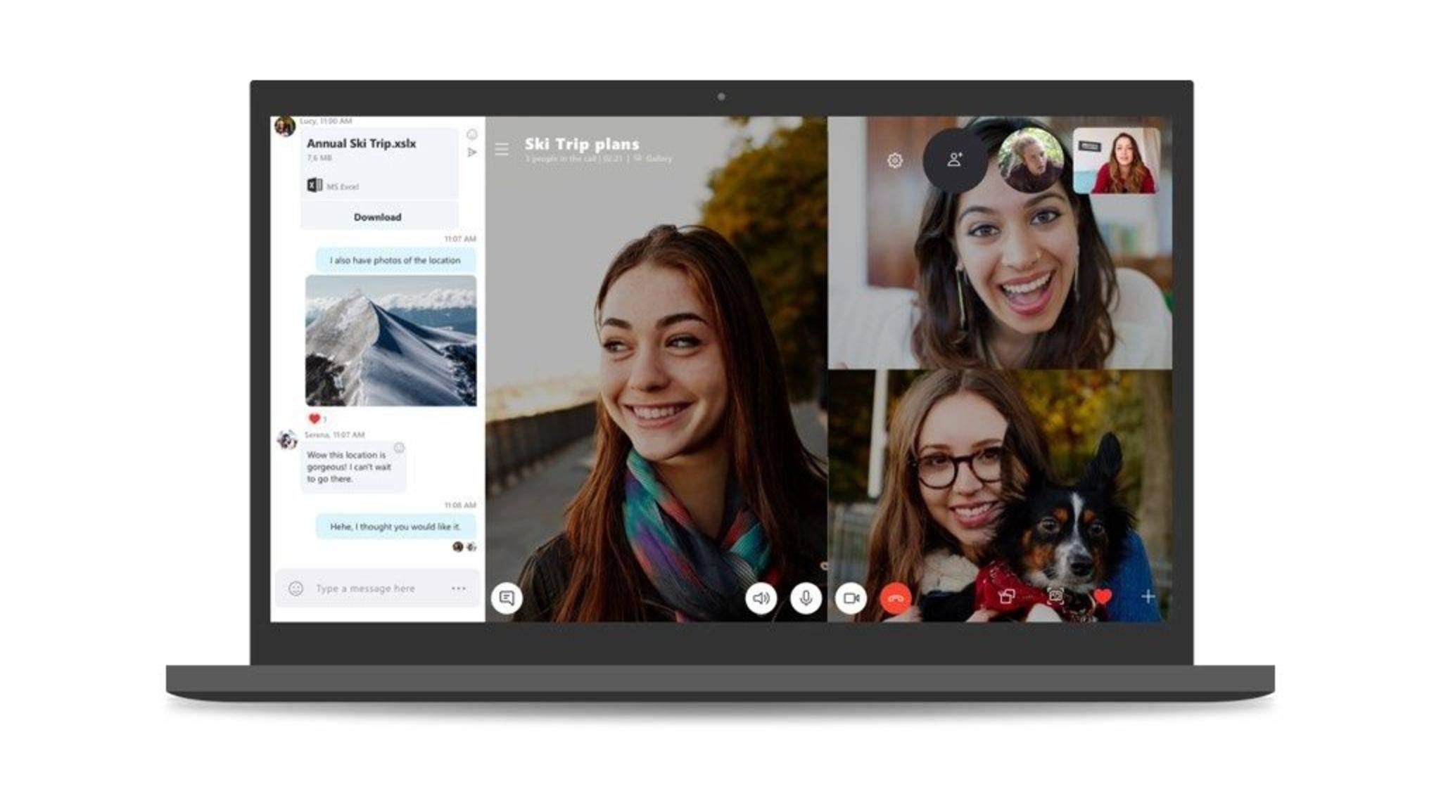 Du kannst auch mit VoIP-Apps wie Skype telefonieren.
