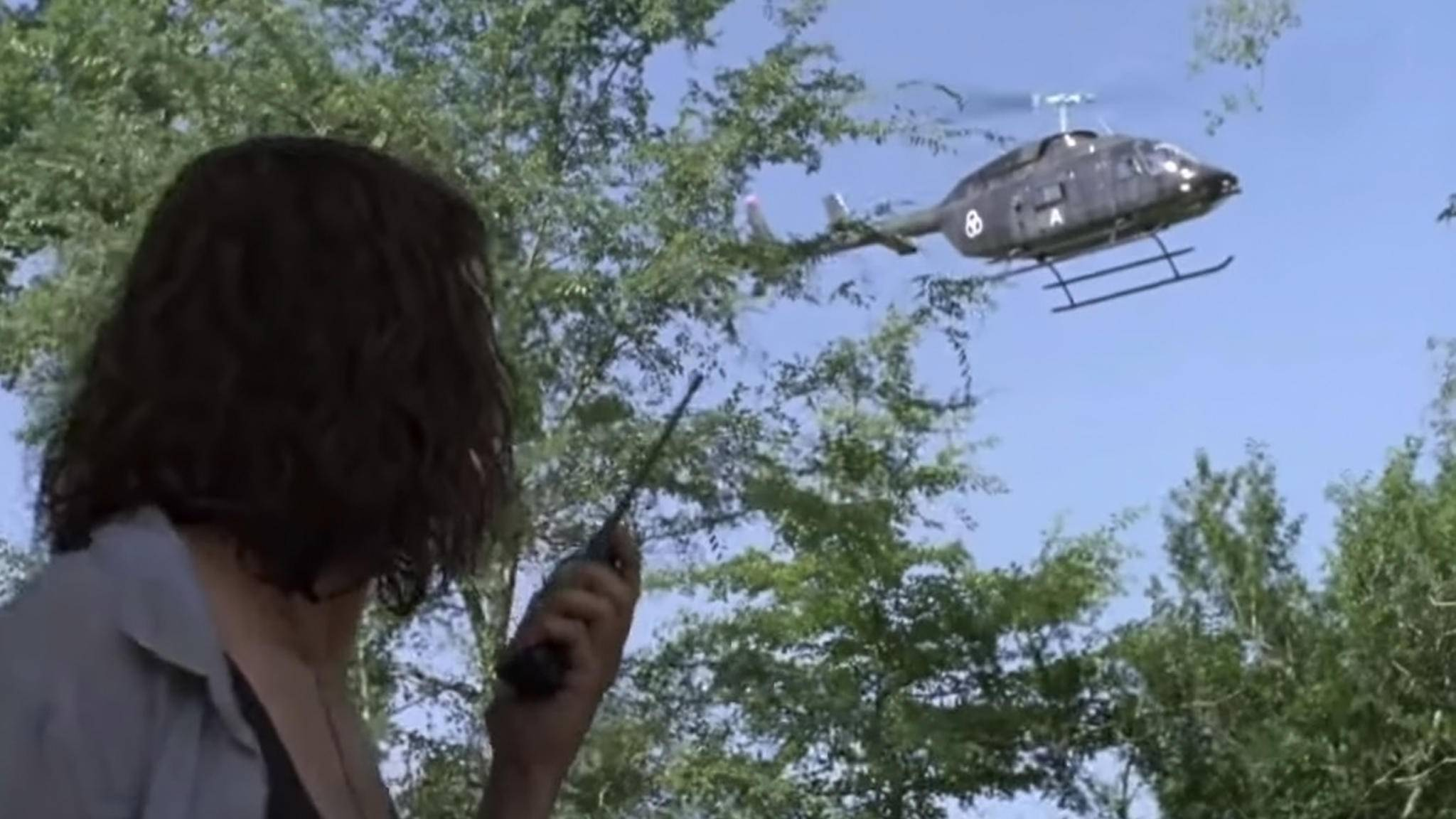 """In Staffel 9 von """"The Walking Dead"""" spielt der Helikopter wohl eine wichtige Rolle."""