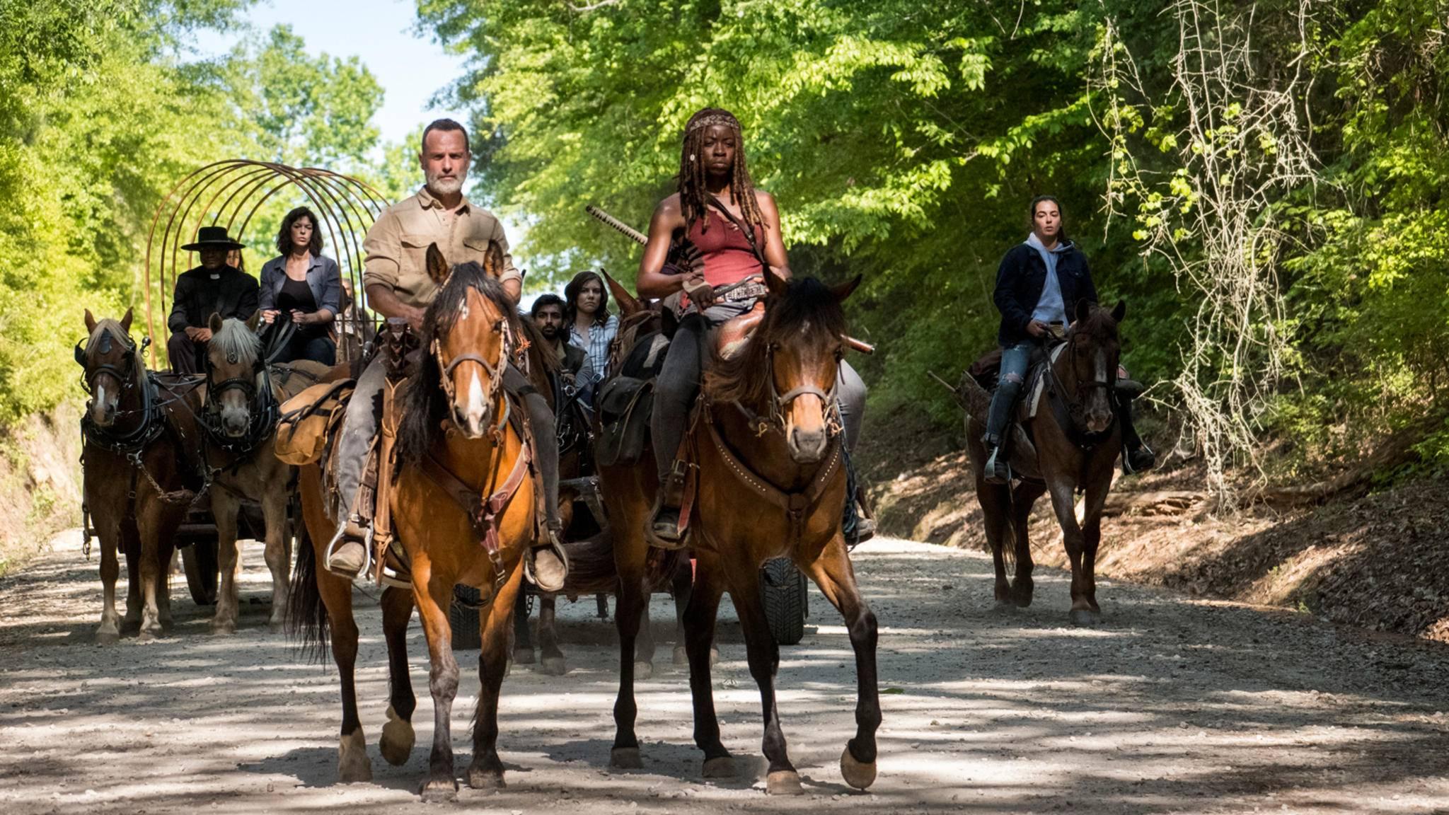 """Nicht nur der Bart: """"The Walking Dead"""" startet mit Überlänge."""