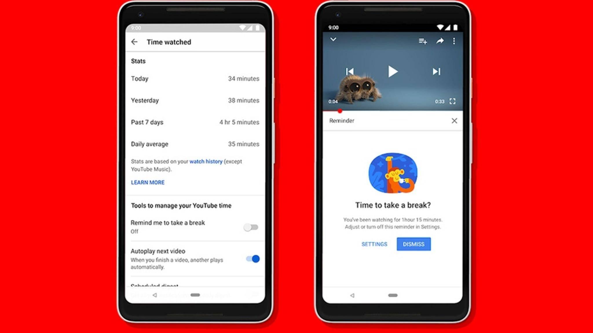 YouTube erinnert die Nutzer bald an eine Pause beim Clips-Ansehen.