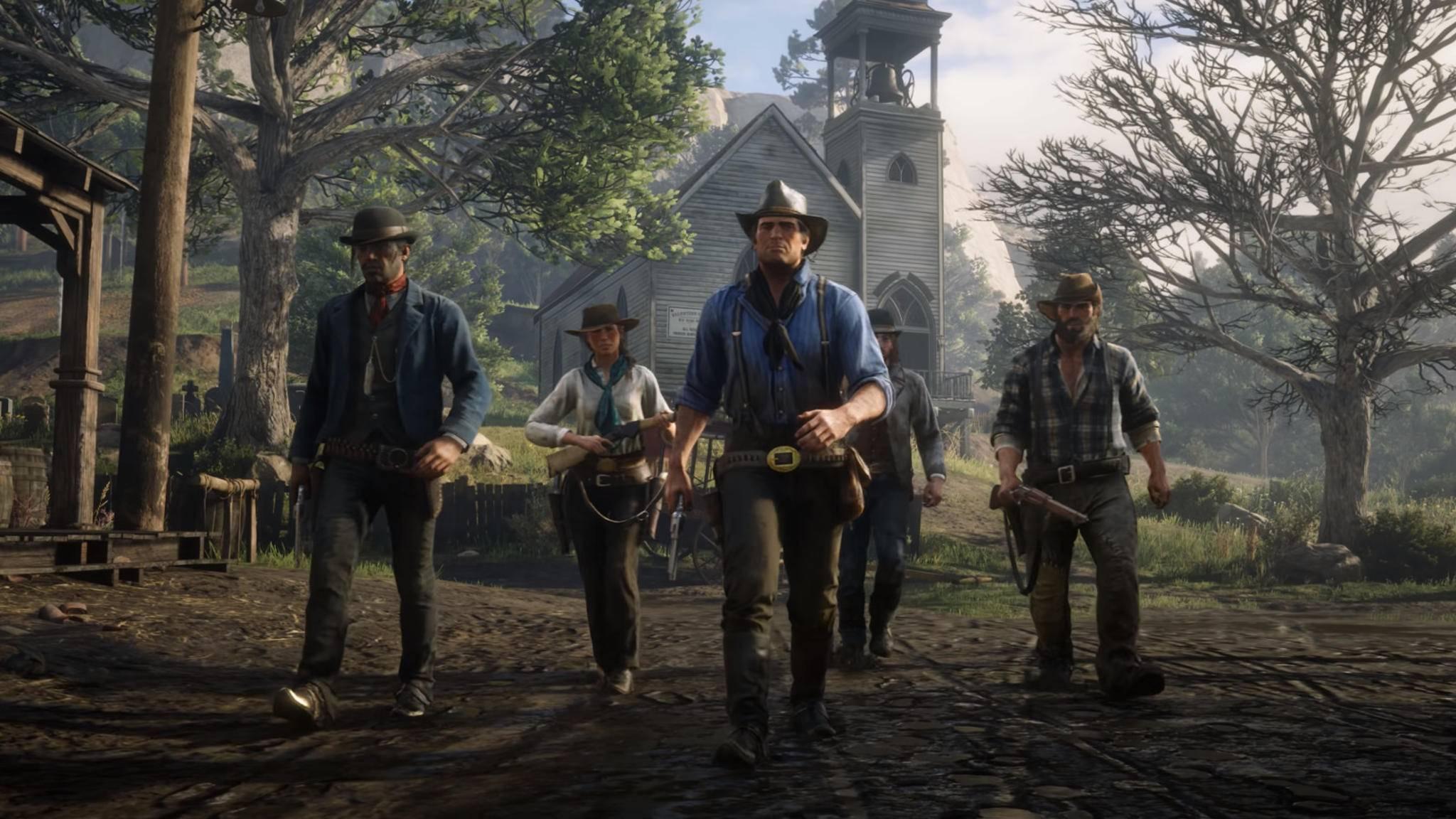Arthur Morgan und der Rest der Van-Der-Linde-Gang geben sich auf dem Twitter-Account von Rockstar Games die Ehre.