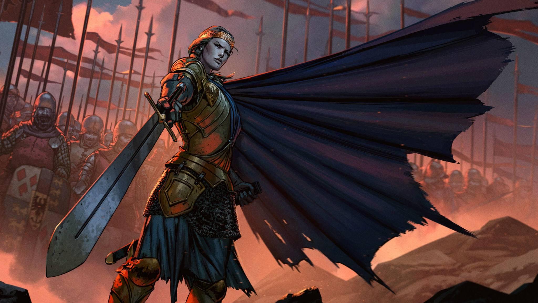 """""""Gwent Thronebreaker"""" soll insgesamt 30 Stunden Story bieten – für ein Sammelkartenspiel ist das eine ganze Menge."""