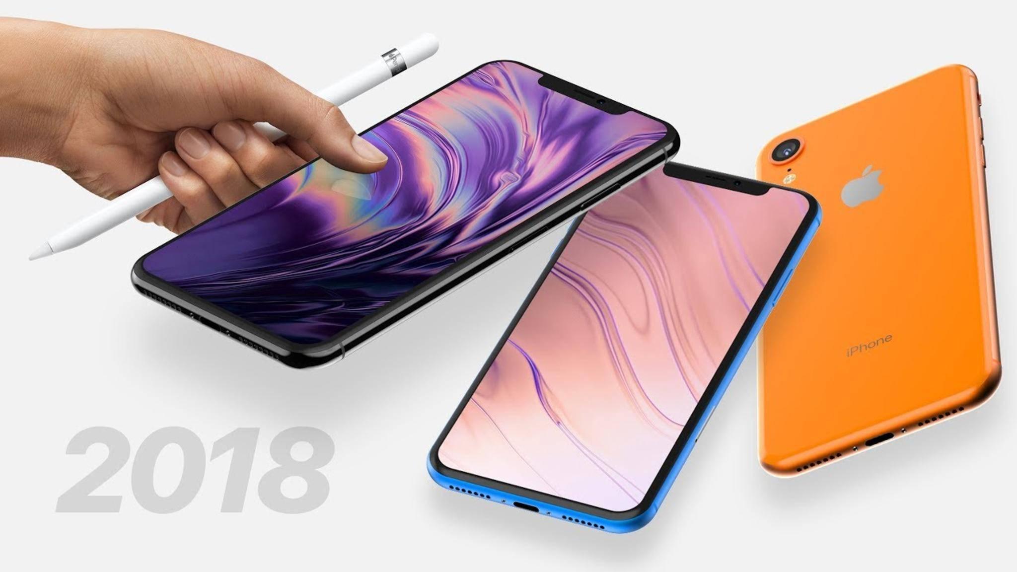 Ein iPhone mit Apple Pencil? Zumindest 2018 soll es soweit wohl noch nicht sein.