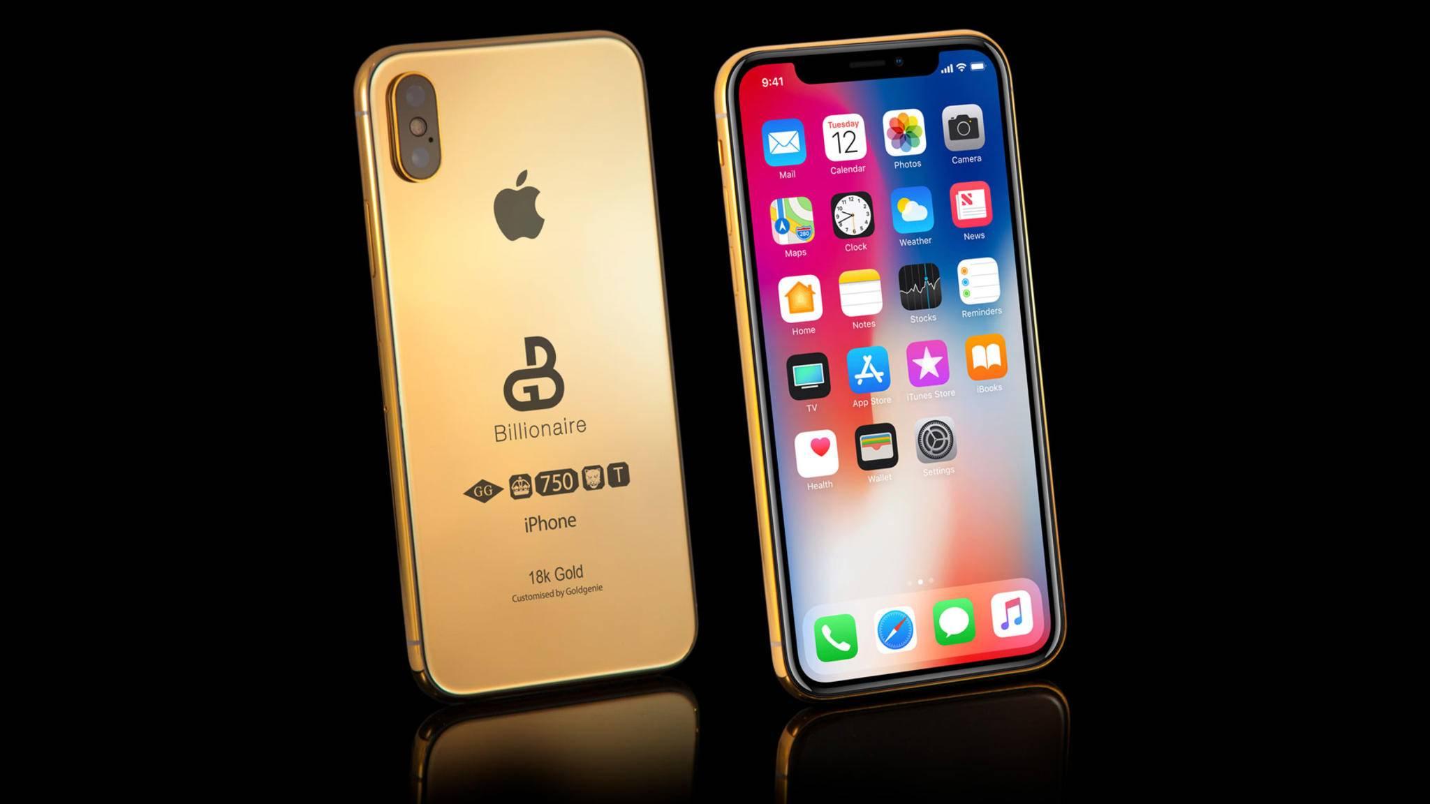 18 Karat Gold, Concierge inklusive: Dieses iPhone XS kostet mehr als 100.000 Euro.
