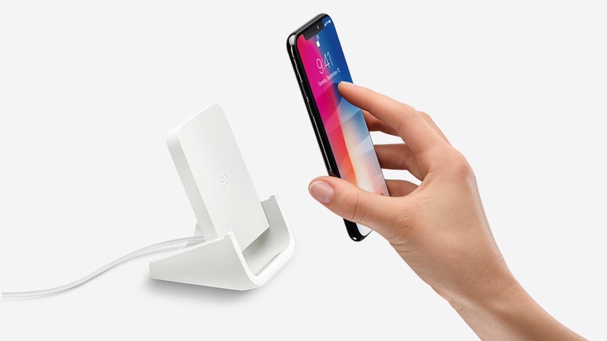 Apple hat beim Design der Wireless-Ladestation von Logitech für neue iPhones mitgeholfen.